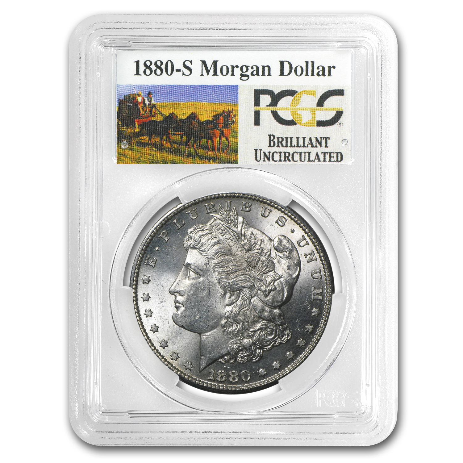 1878-1904 Stage Coach Morgan Silver Dollars by PCGS (BU)