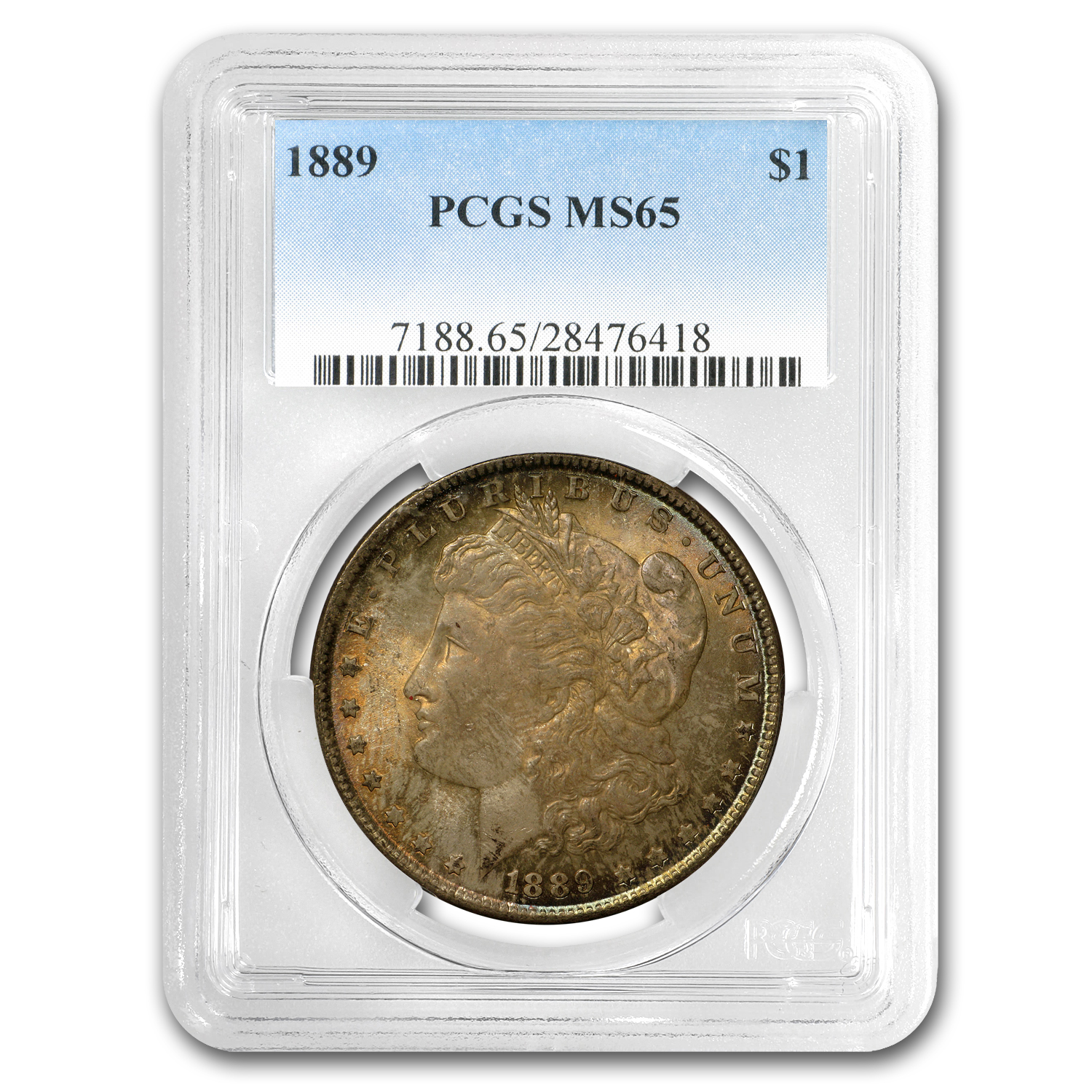 1889 Morgan Dollar MS-65 PCGS (Toned Obv & Rev)