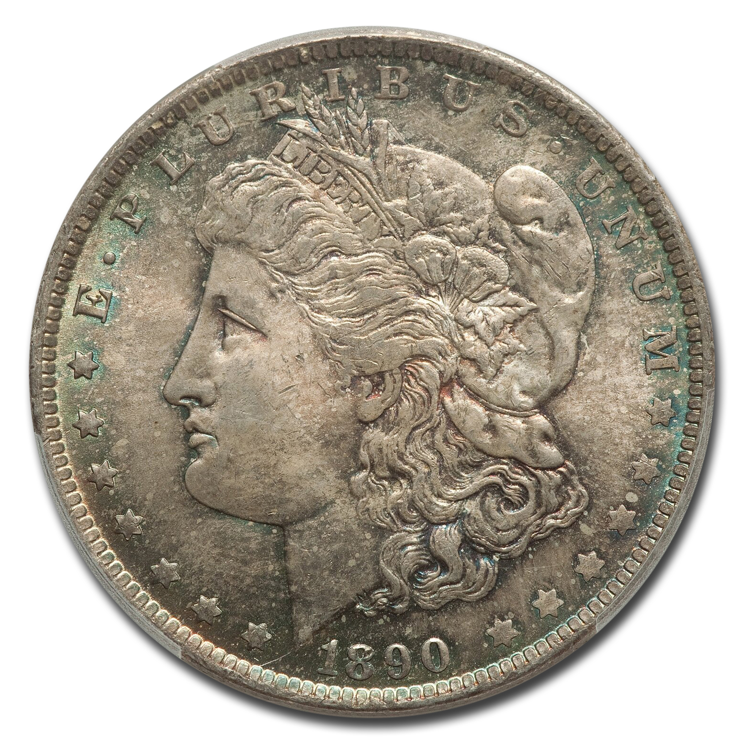 1890-O Morgan Dollar MS-65 PCGS (Toned Obv & Rev)