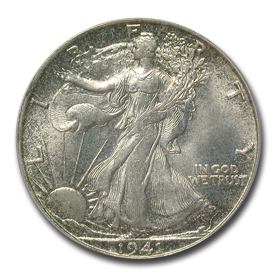 1941-S Walking Liberty Half Dollar MS-65 PCGS
