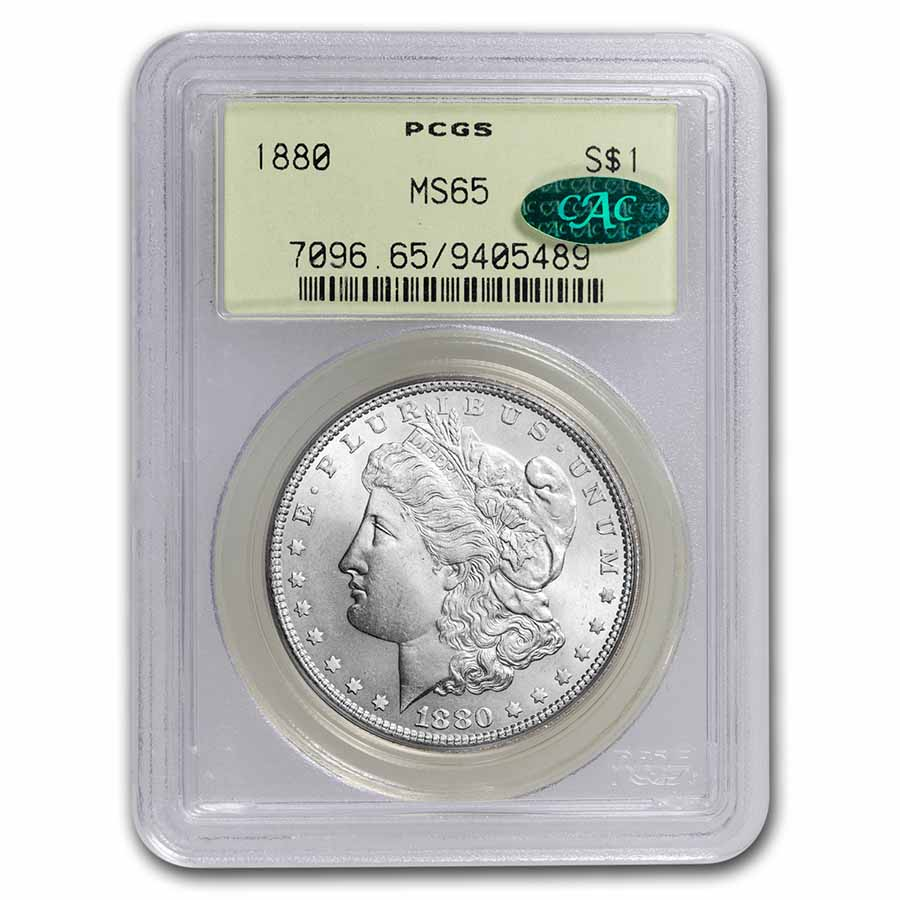 1880 Morgan Dollar MS-65 PCGS CAC
