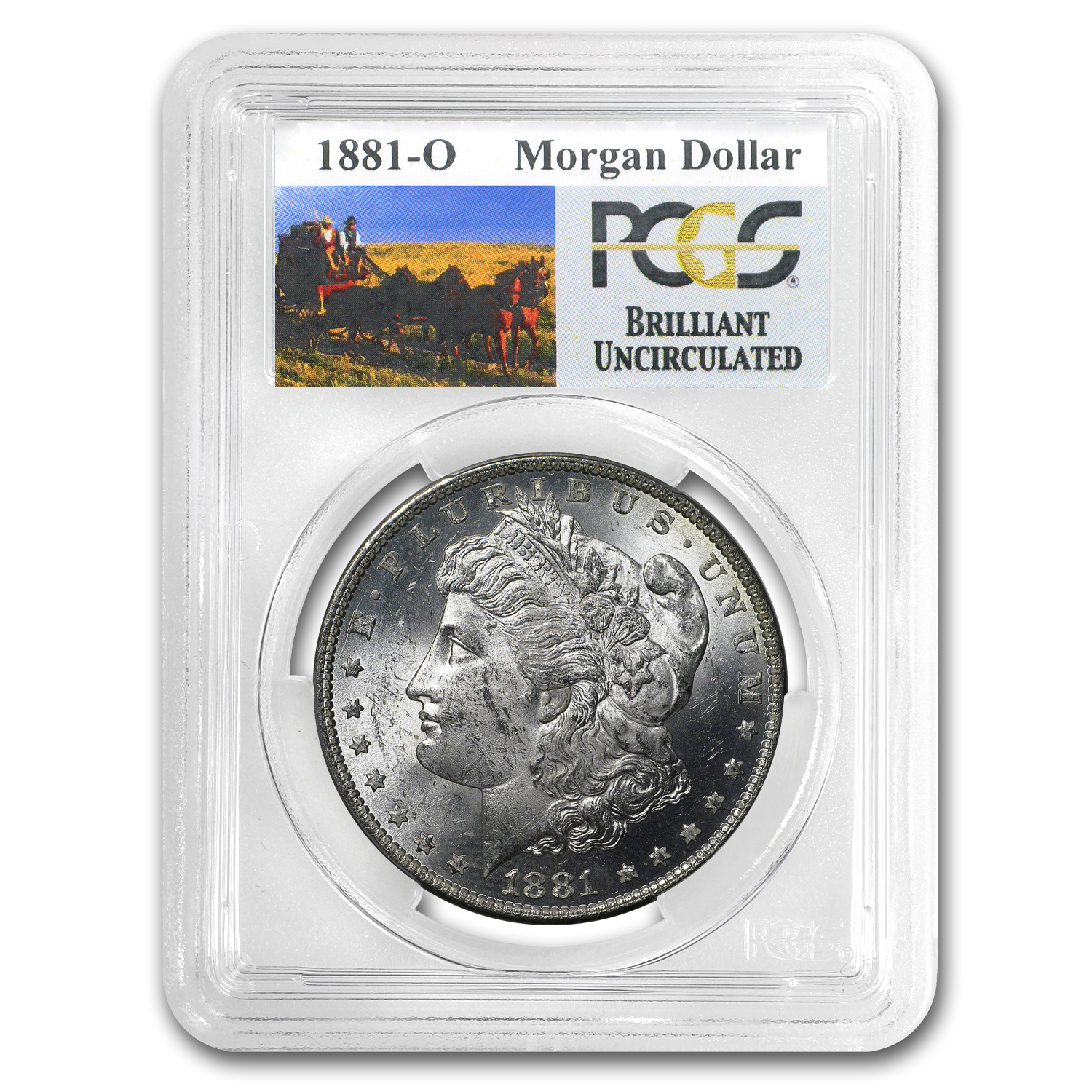1881-O Brilliant Uncirculated PCGS Stage Coach Silver Dollars