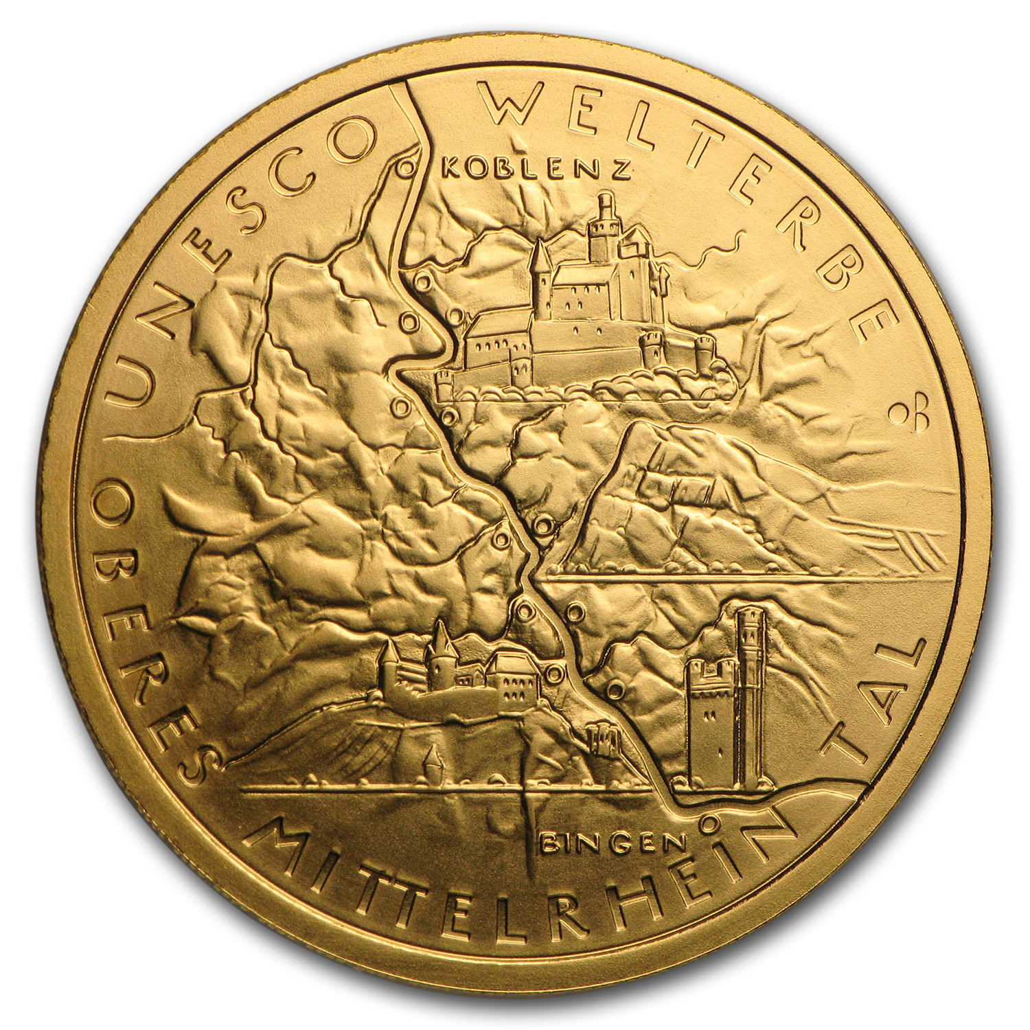 2015 Germany 1/2 oz Gold 100 Euro Rhine Gorge BU