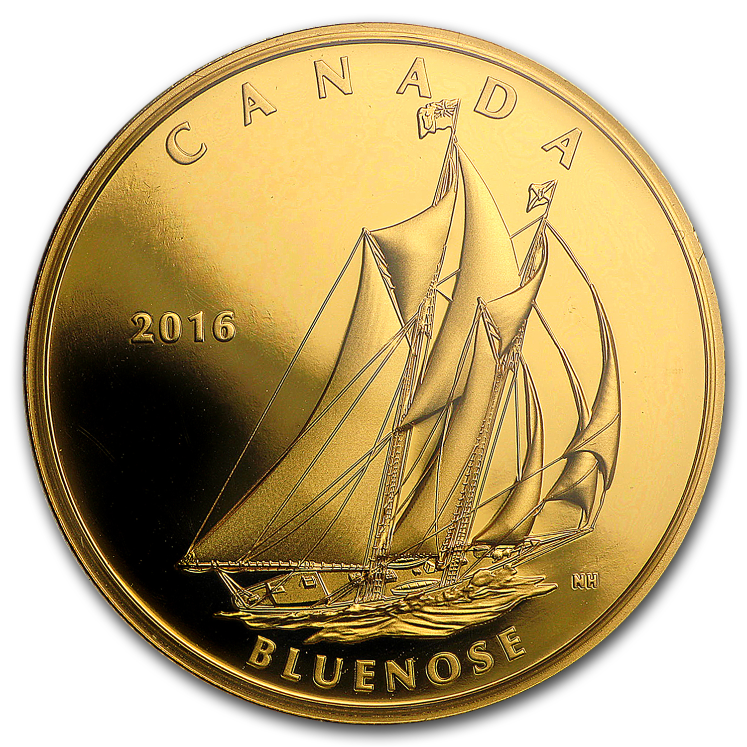 2016 Canada 1 oz Proof Gold $200 Tall Ships: Bluenose