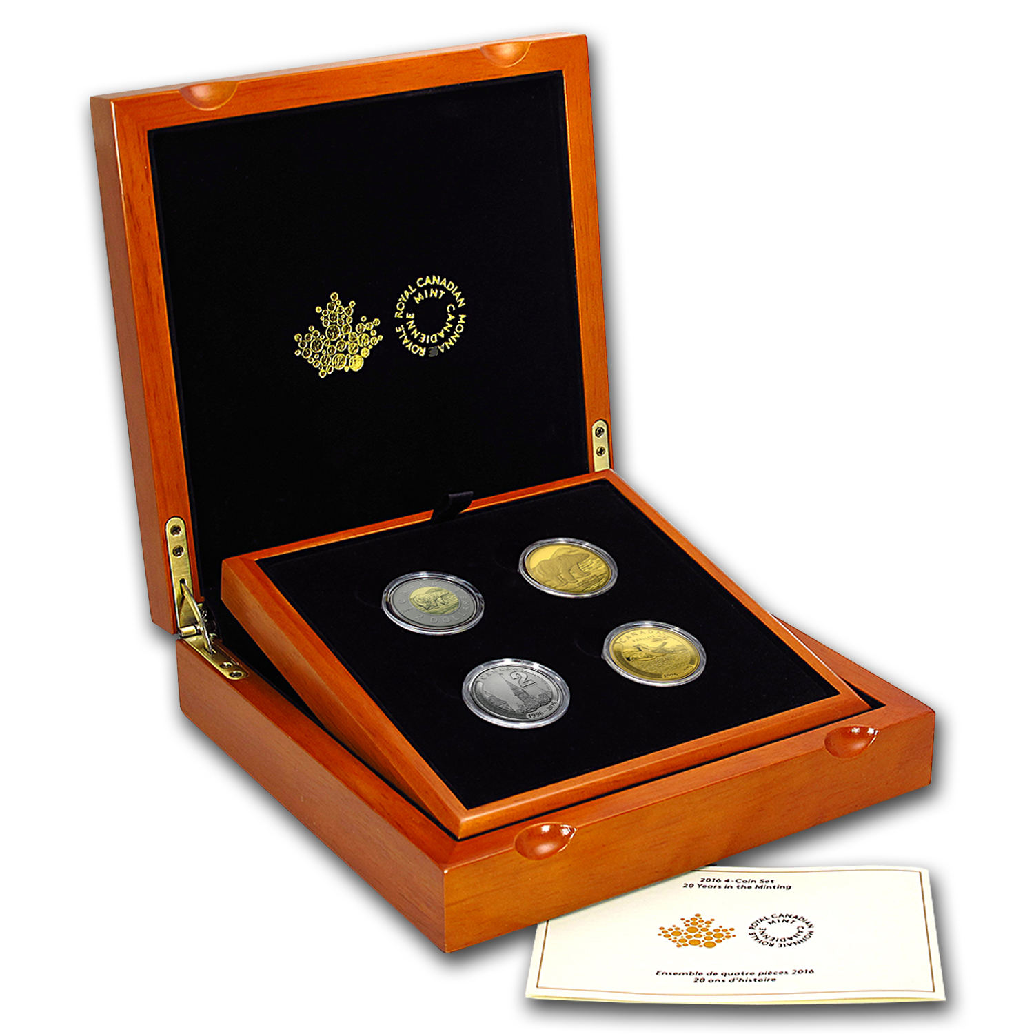 2016 Canada 4-Coin Gold and Platinum 20 Years of Minting Set