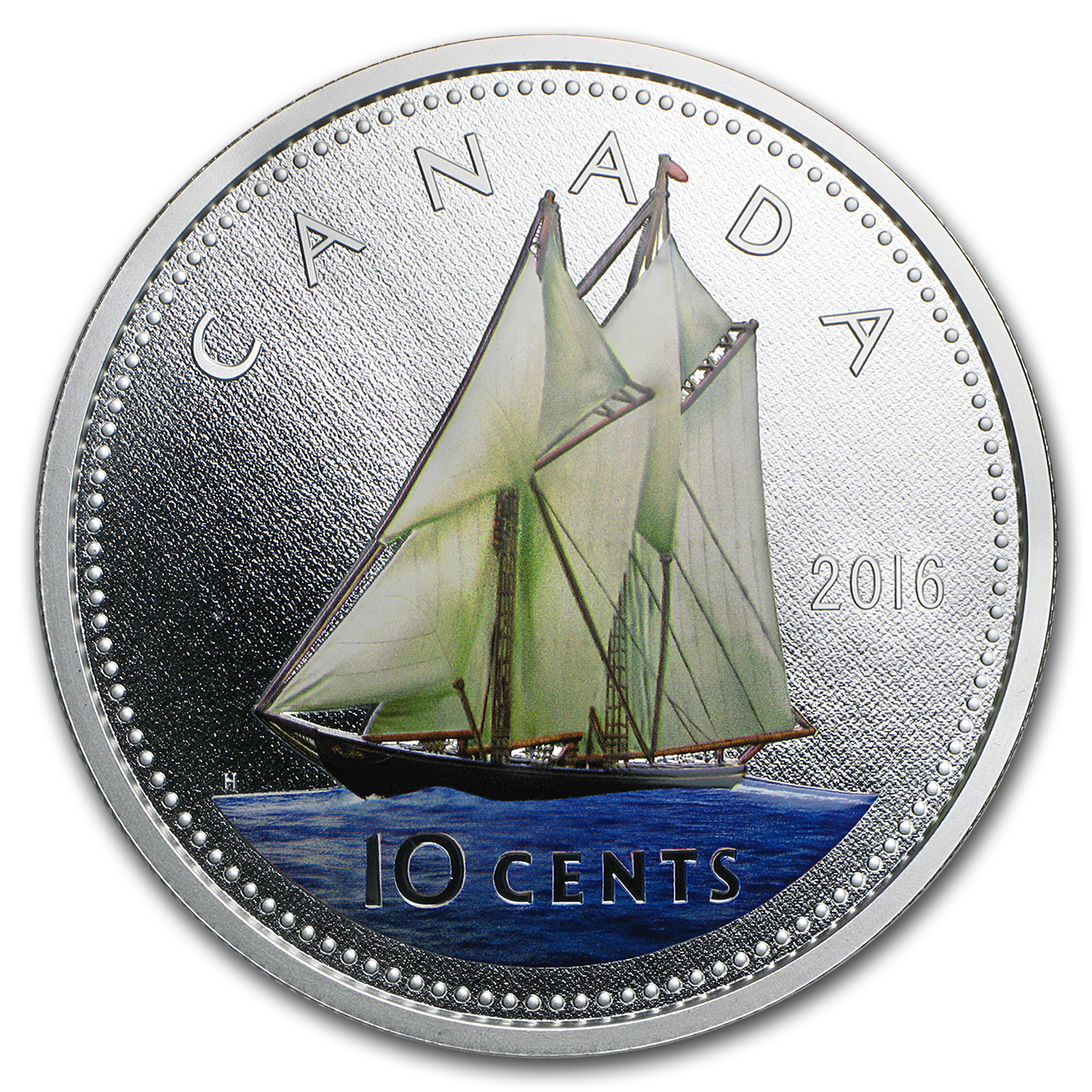 2016 Canada 5 oz Silver $1 Big Coin Series (10 Cent Coin)
