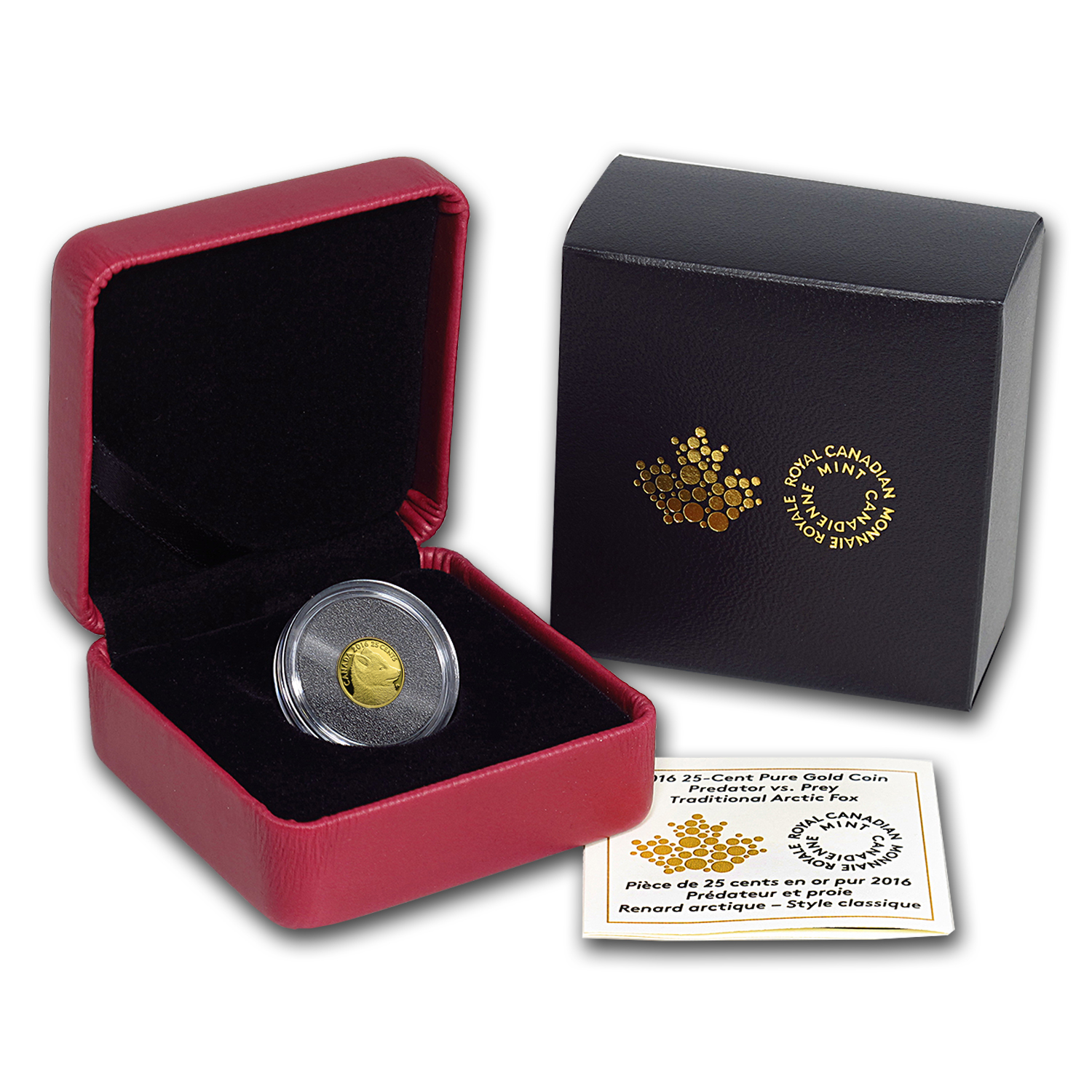 2016 Canada 1/2 Gram Proof Gold $0.25 Predator v Prey: Arctic Fox