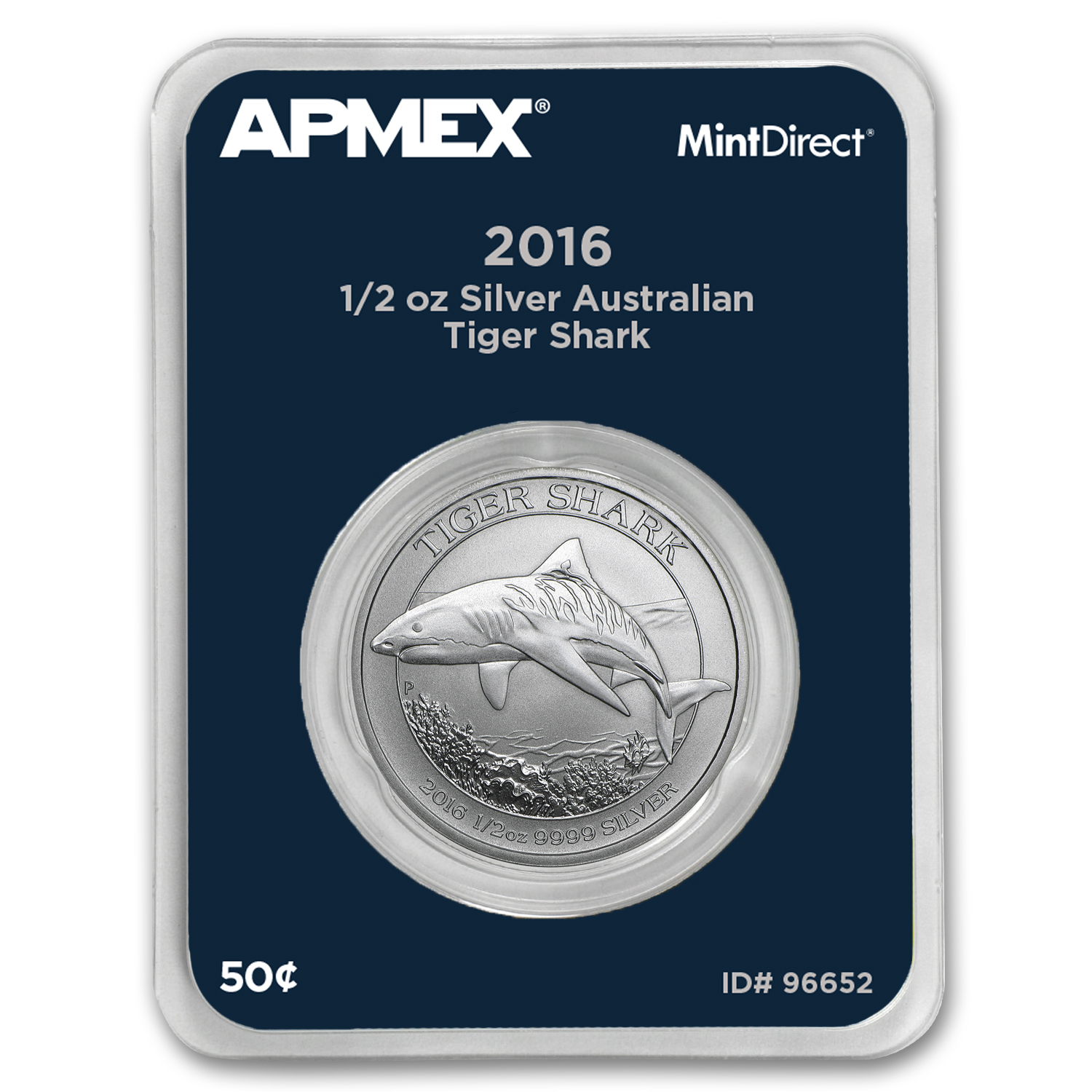 2016 Australia 1/2 oz Silver Tiger Shark (MintDirect® Single)