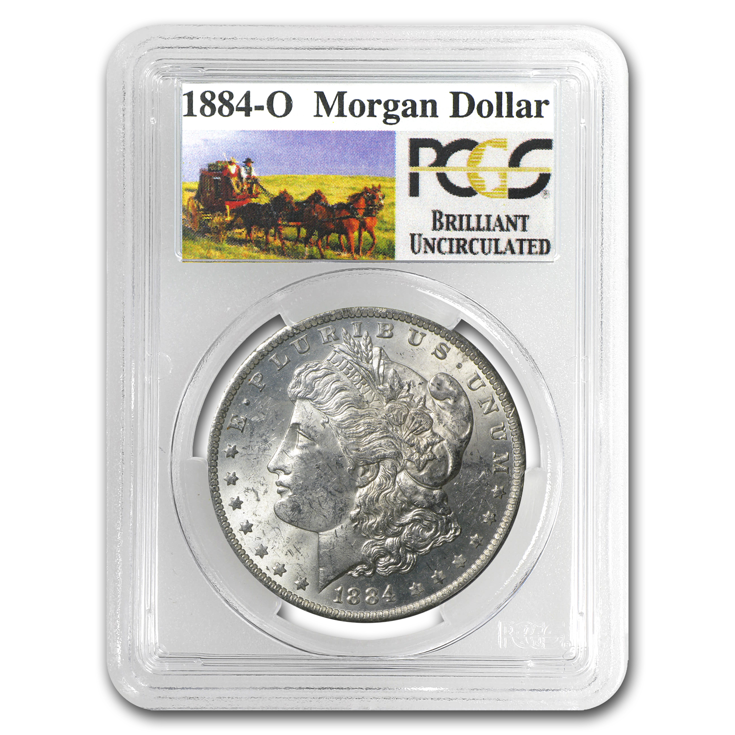 1884-O Brilliant Uncirculated PCGS Stage Coach Silver Dollars