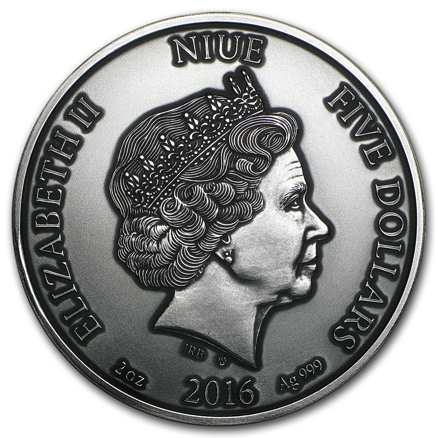 2016 Niue 2 oz Silver High Relief Artistic Series (The Cat)