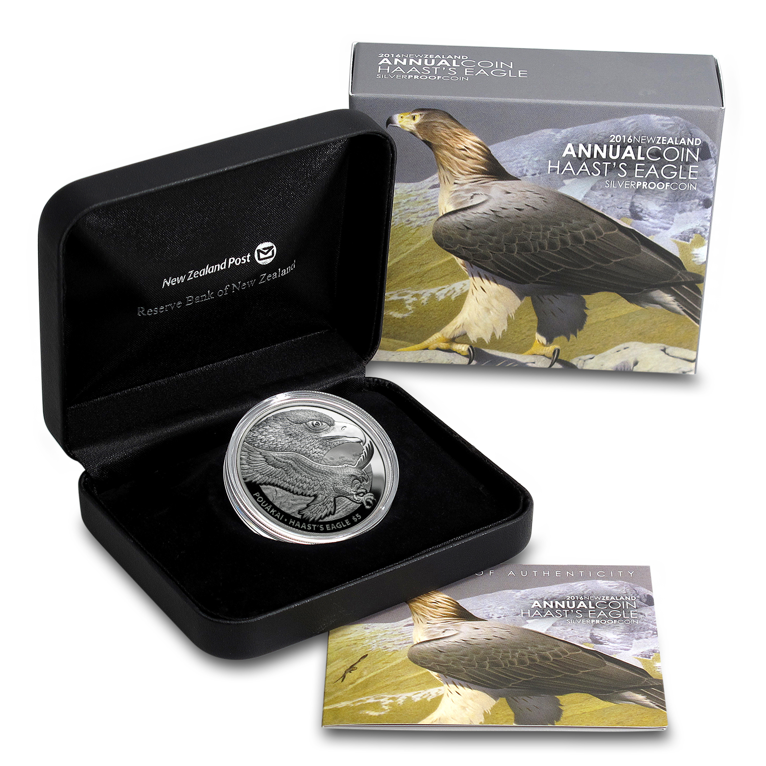 2016 New Zealand 1 oz Silver $5 Haast's Eagle (Light Abrasions)