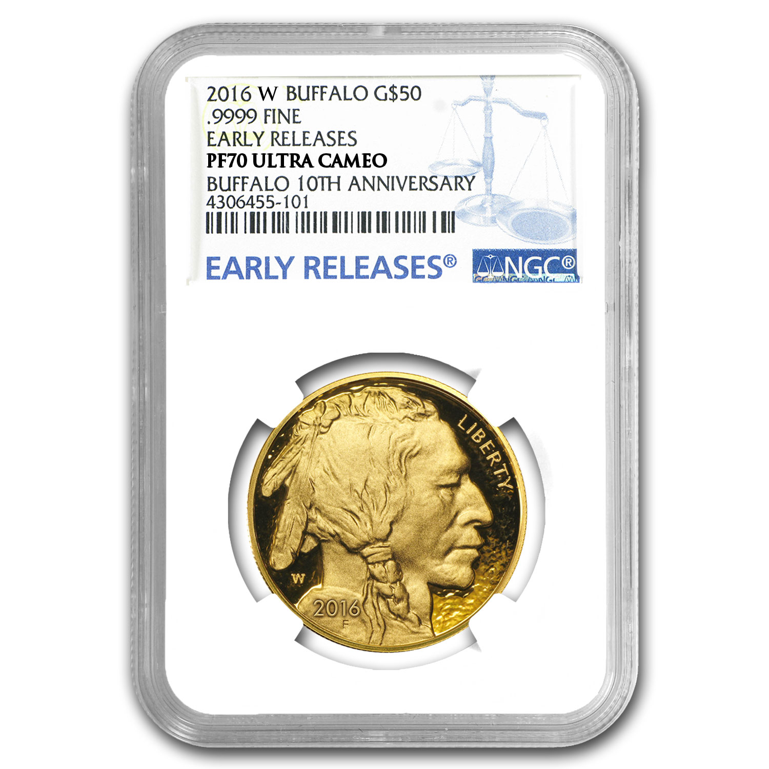 2016-W 1 oz Proof Gold Buffalo PF-70 NGC (ER)