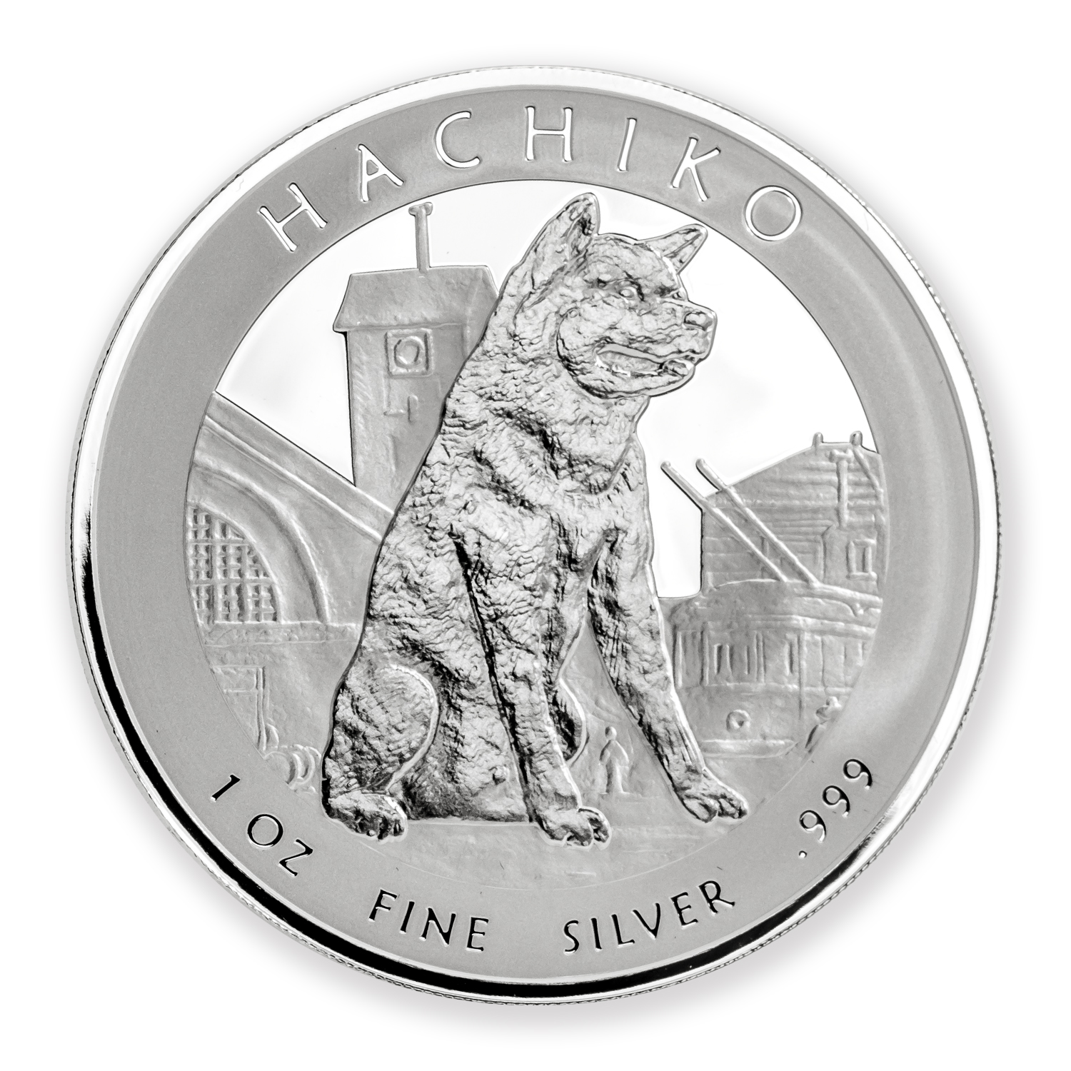 2016 Niue 1 oz Silver Hachiko from Japan Akita Dog