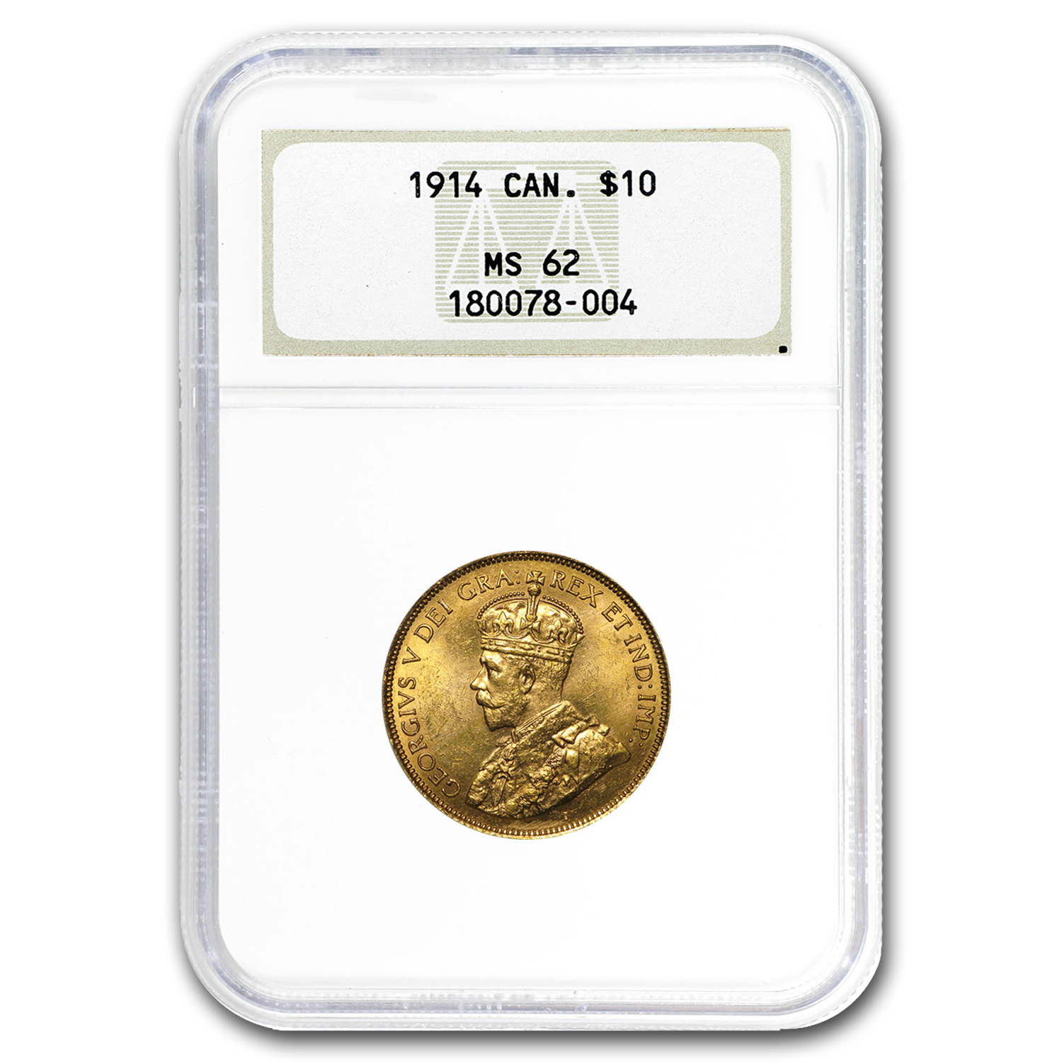 1914 Canada Gold $10 MS-62 NGC