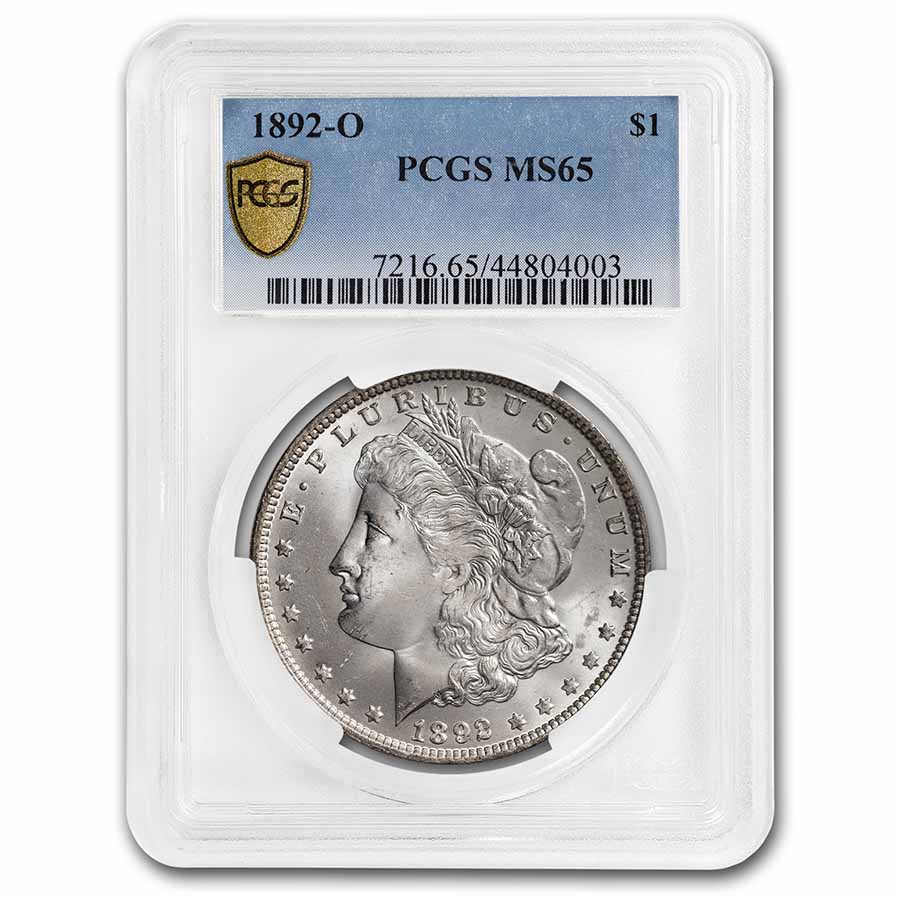 1892-O Morgan Dollar MS-65 PCGS