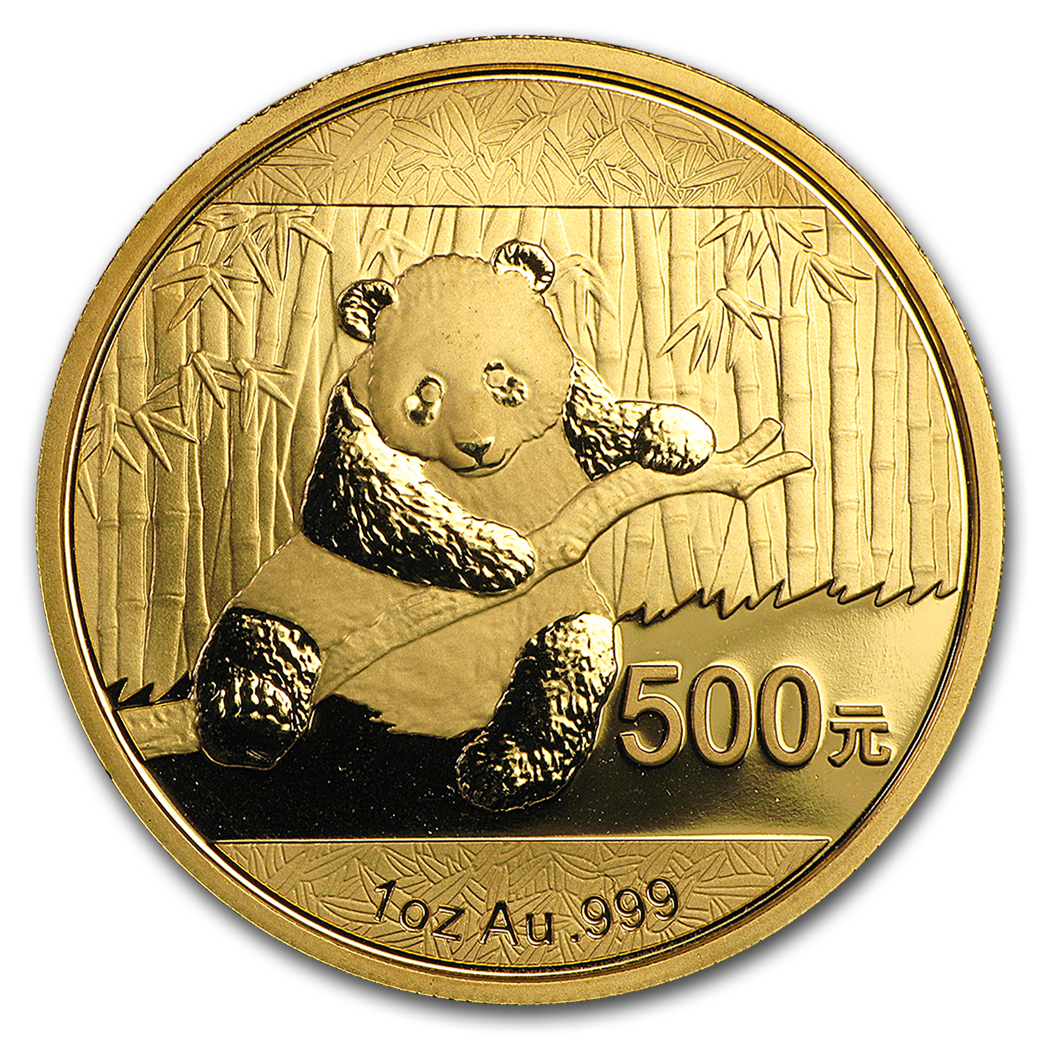 2014 China 1 oz Gold Panda BU (Not Sealed)