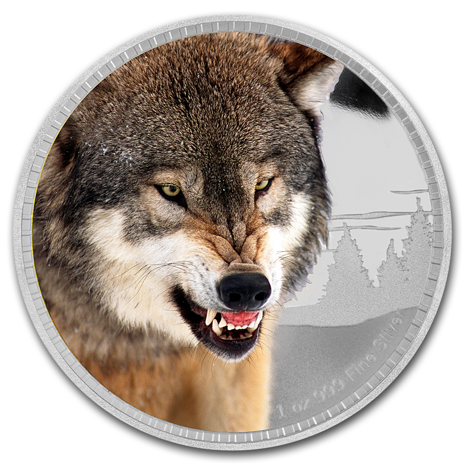 2016 Niue 1 oz Silver Kings of Continents African Grey Wolf