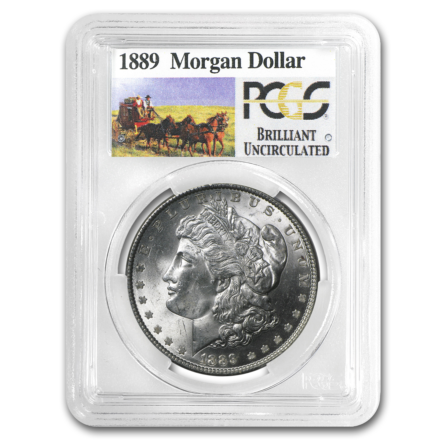 1889 Brilliant Uncirculated PCGS Stage Coach Silver Dollars