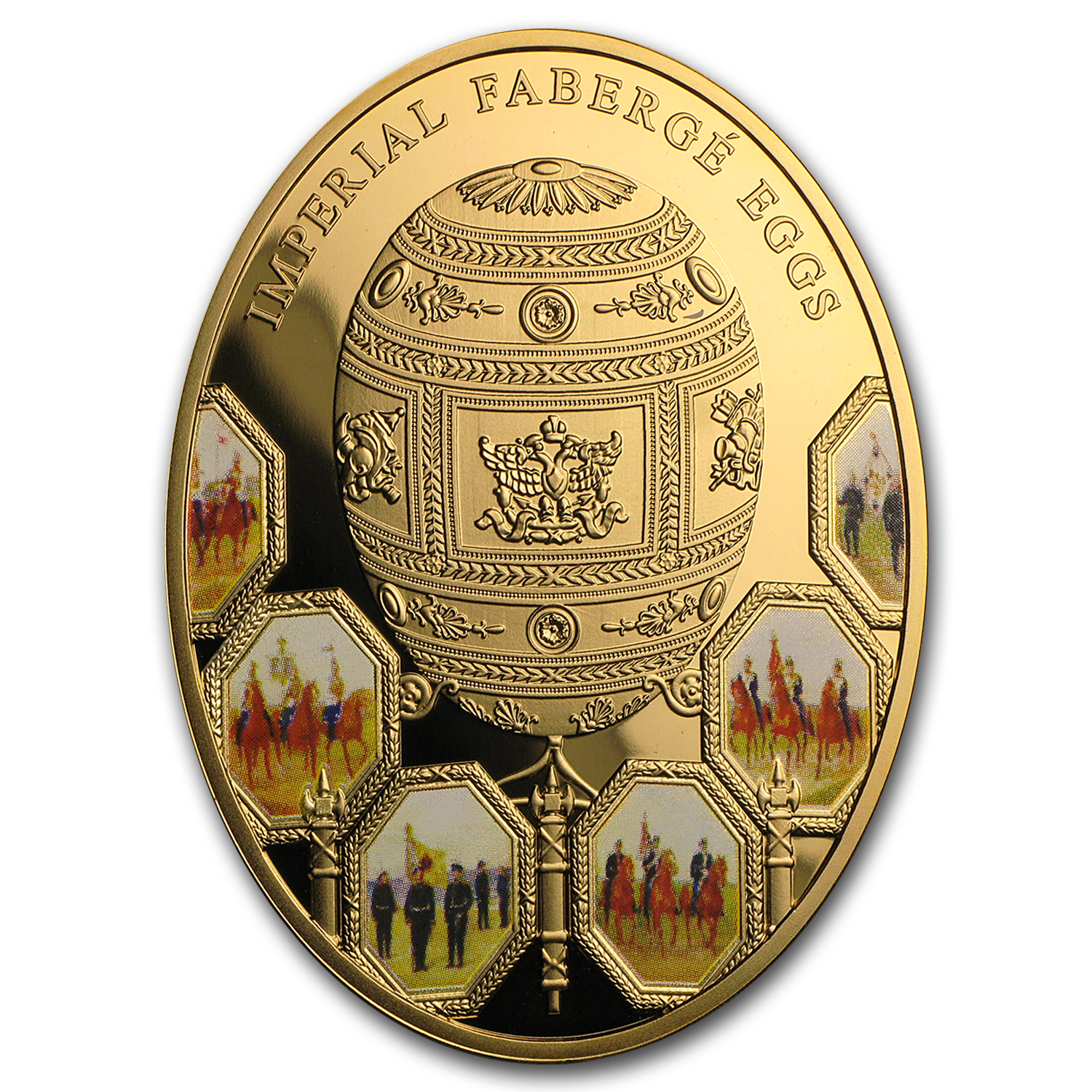 2012 Niue Proof Gold Imperial Fabergé Egg 100th Anniv War of 1812