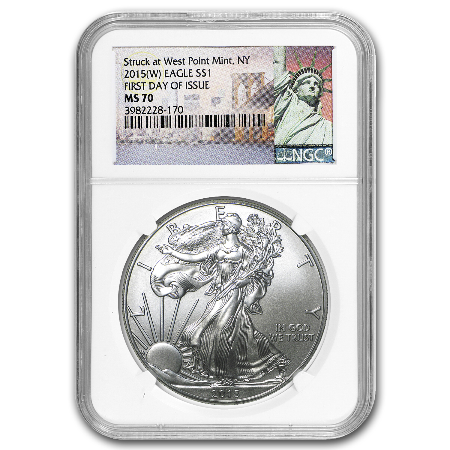 2015 Silver American Eagle MS-70 NGC (First Day of Issue)