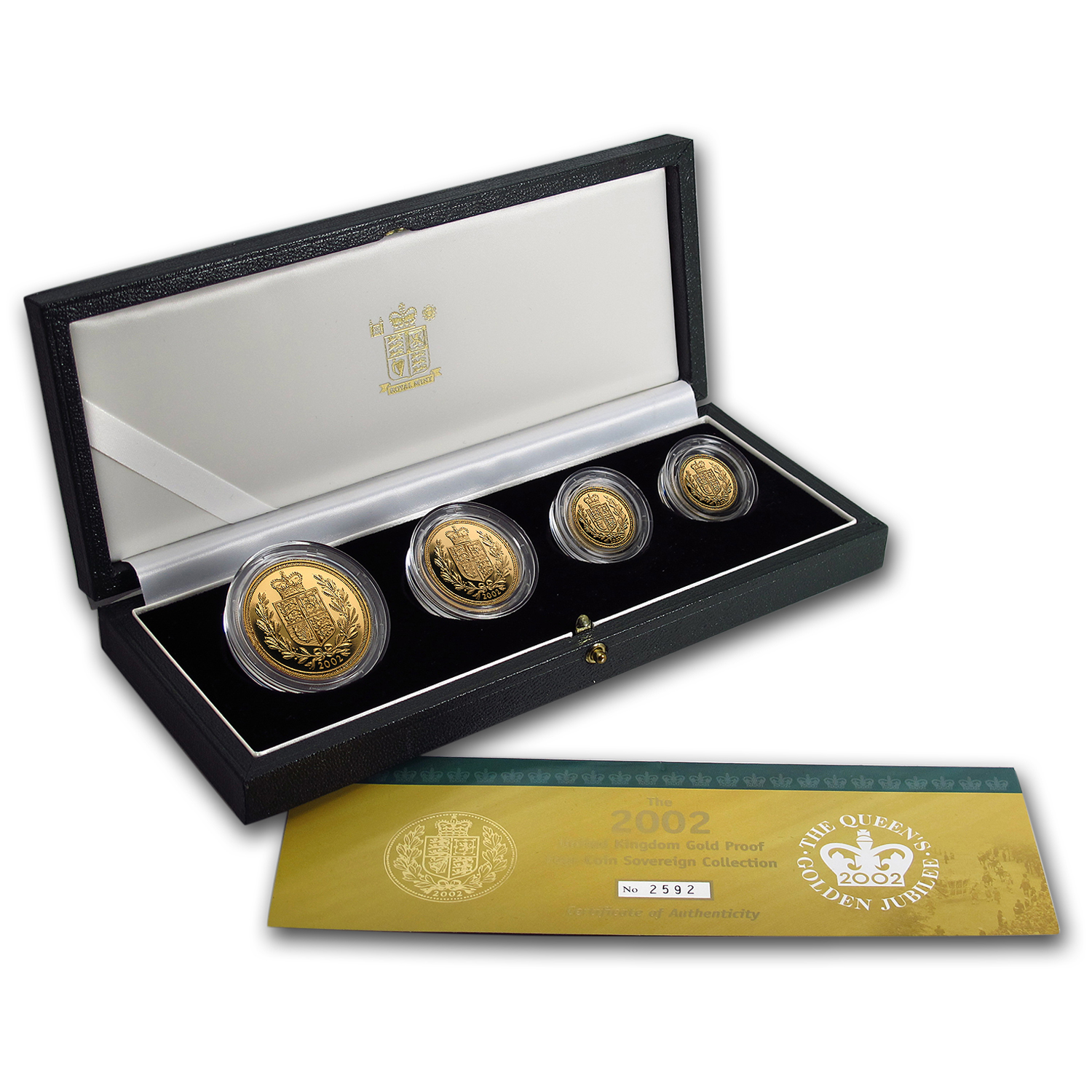 2002 Great Britain 4-Coin Gold Sovereign Proof Set