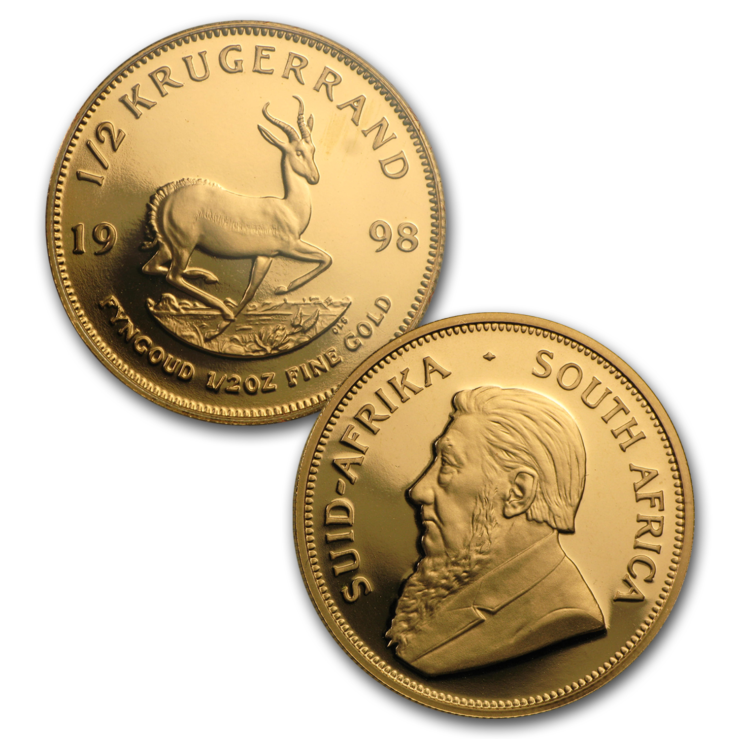 1998 South Africa 5-Pc Gold Krugerrand DeBeers Proof Set (No COA)