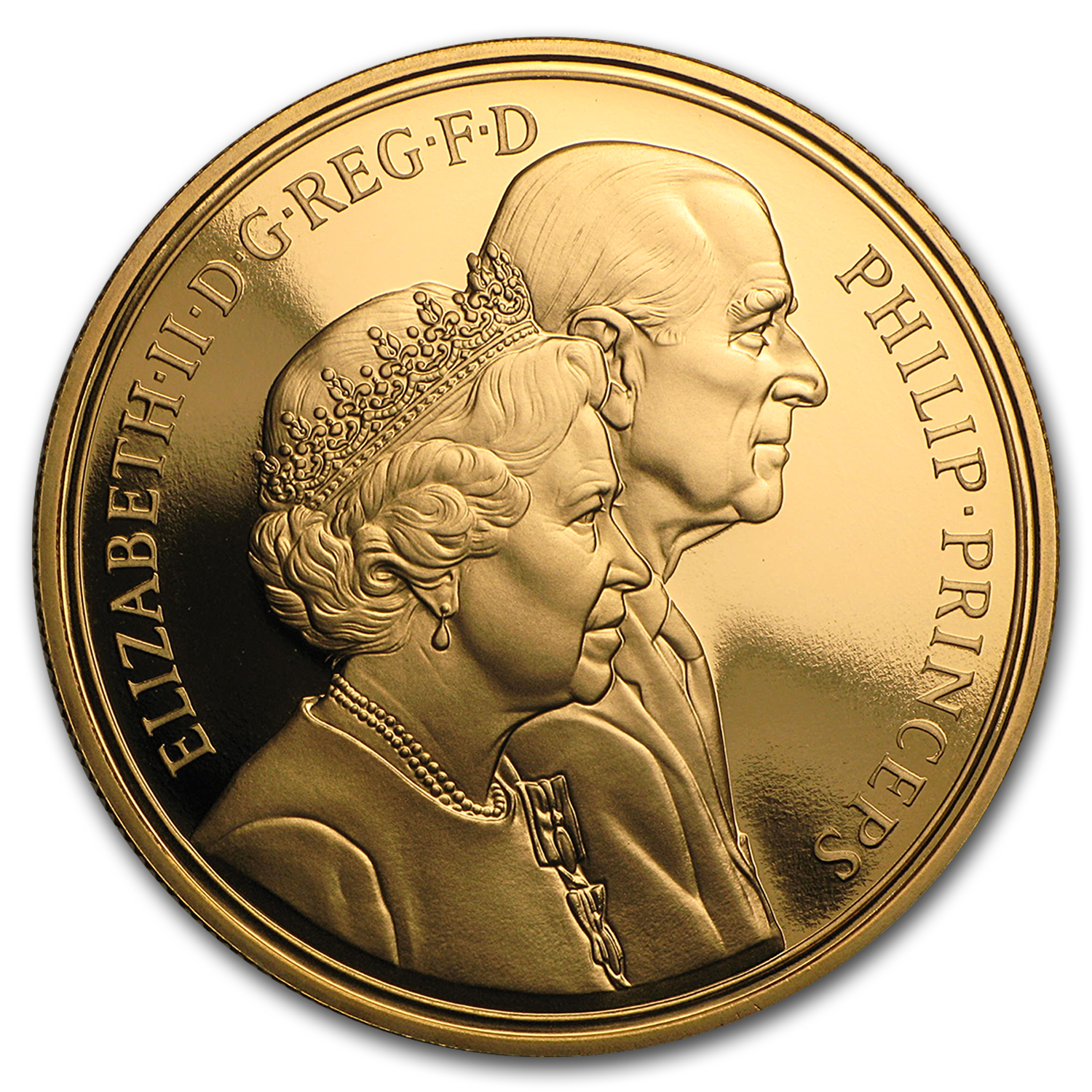 1997 Great Britain Gold £5 Golden Marriage Anniversary Proof