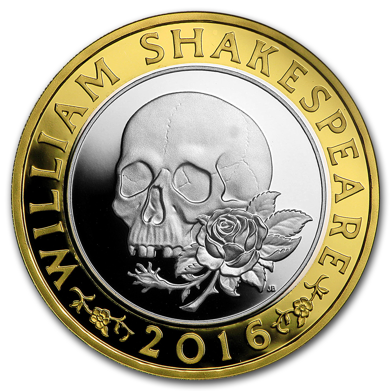 2016 Great Britain £2 Prf Silver Shakespeare: Tragedies Piedfort