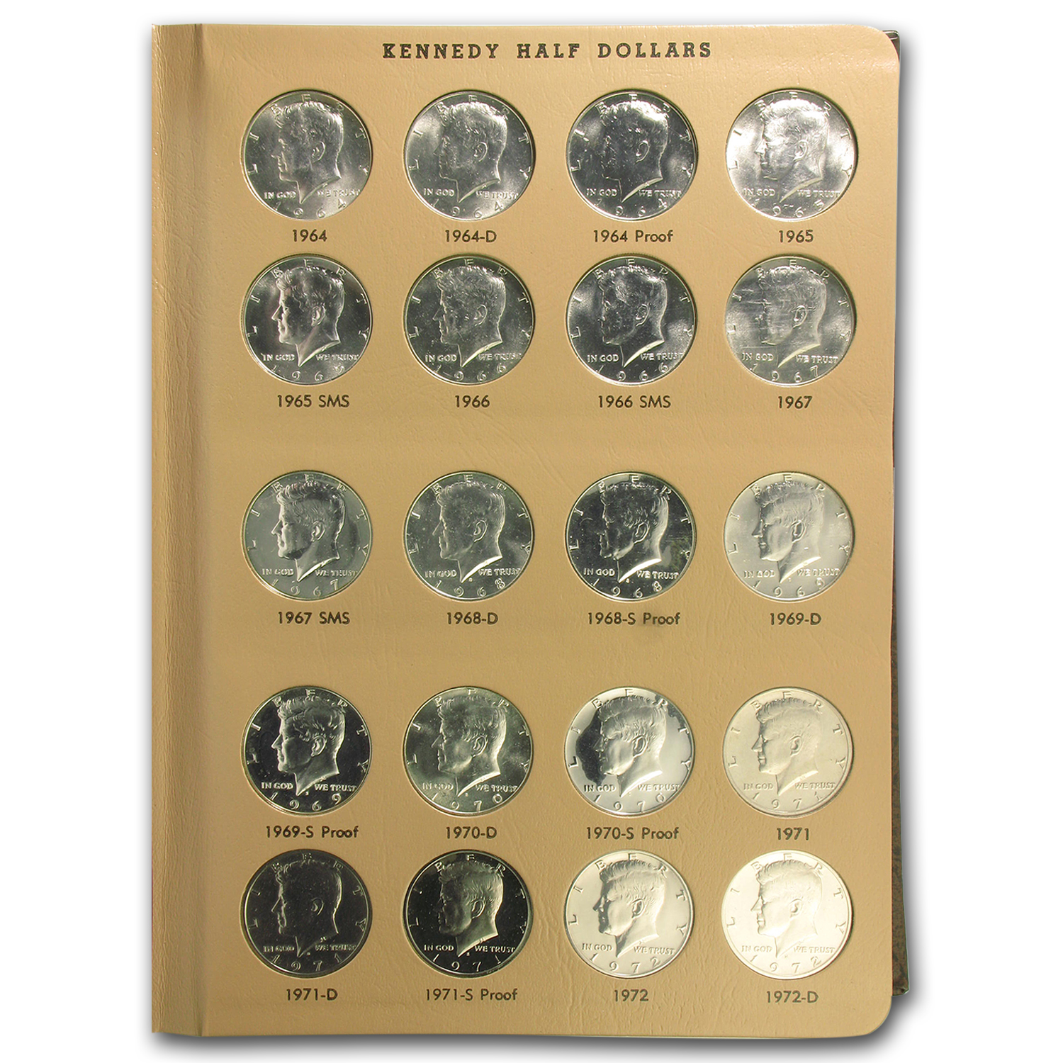 1964-2012-S Kennedy Half Dollar Set Complete in Dansco 160 Coins