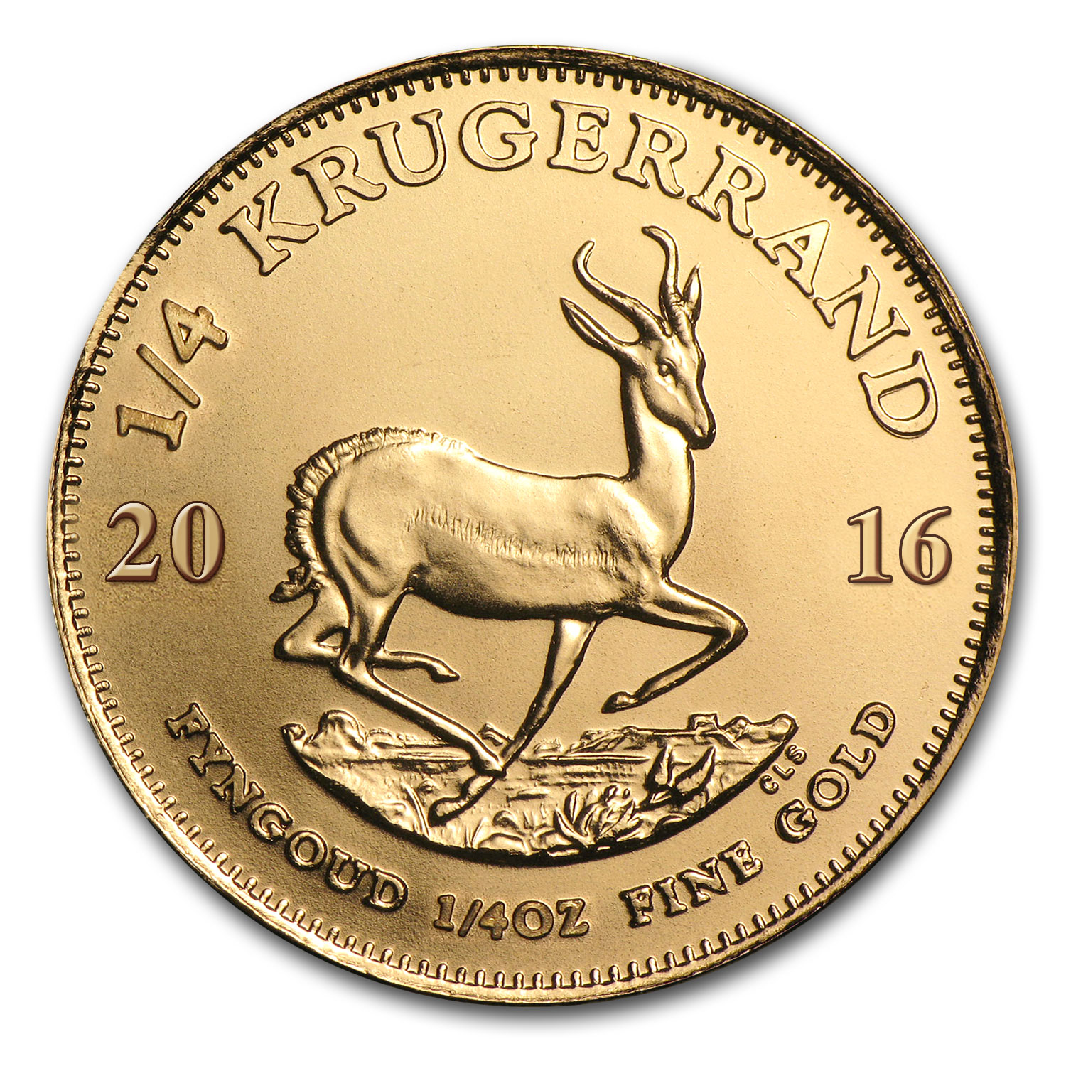 2016 South Africa 1/4 oz Gold Krugerrand