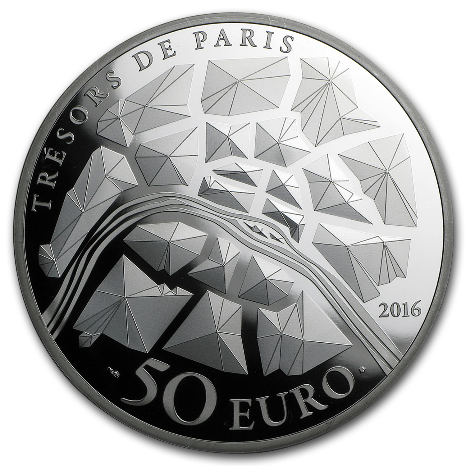 2016 France 5 oz Silver €50 Treasures of Paris (Opera Garnier)