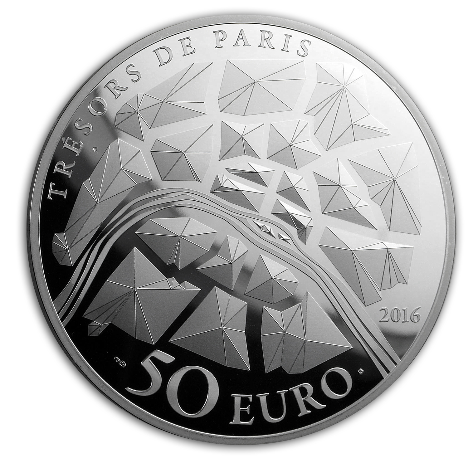 2016 5 oz Silver €50 Treasures of Paris (Institut de France)