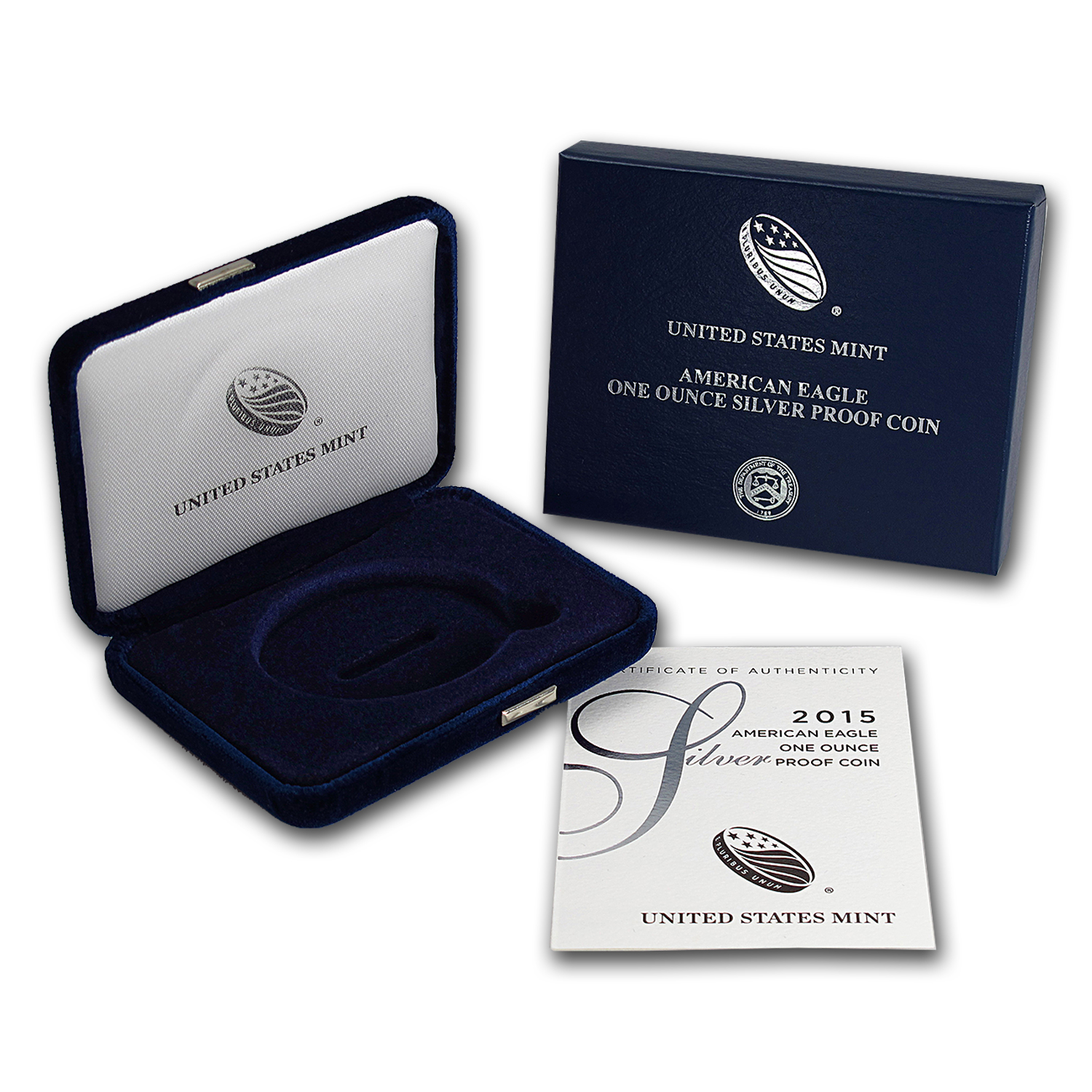 OGP - 2015 Silver American Eagle Proof (Empty Box & COA)