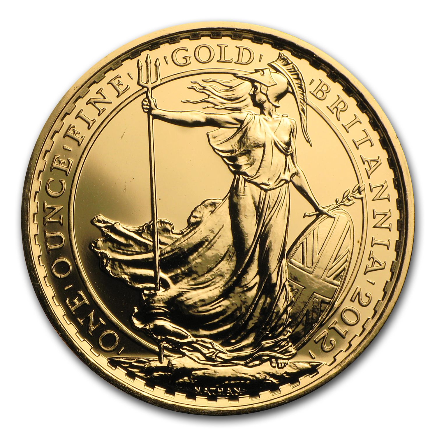 2012 Great Britain 1 oz Gold Britannia BU (25th Anniv)