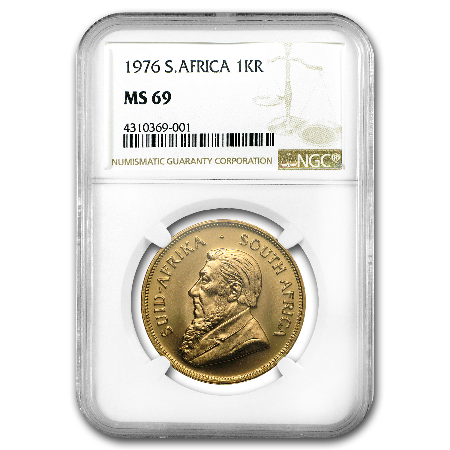1976 South Africa 1 oz Gold Krugerrand MS-69 NGC