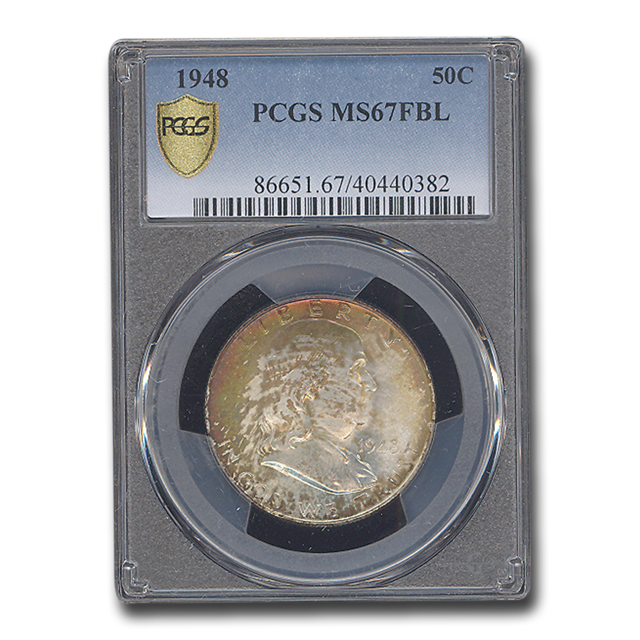 1948 Franklin Half Dollar MS-67 PCGS (FBL)