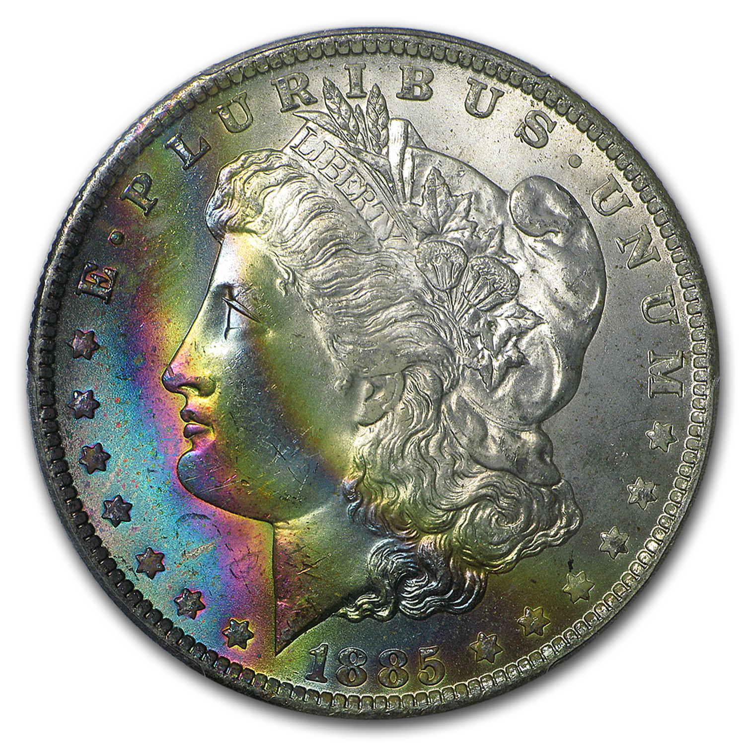 1885-O Morgan Dollar MS-66+ PCGS CAC (Beautiful Toning)