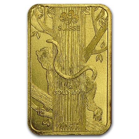 1 Gram Gold Bar Pamp Suisse Lunar Monkey Multigram 8 In