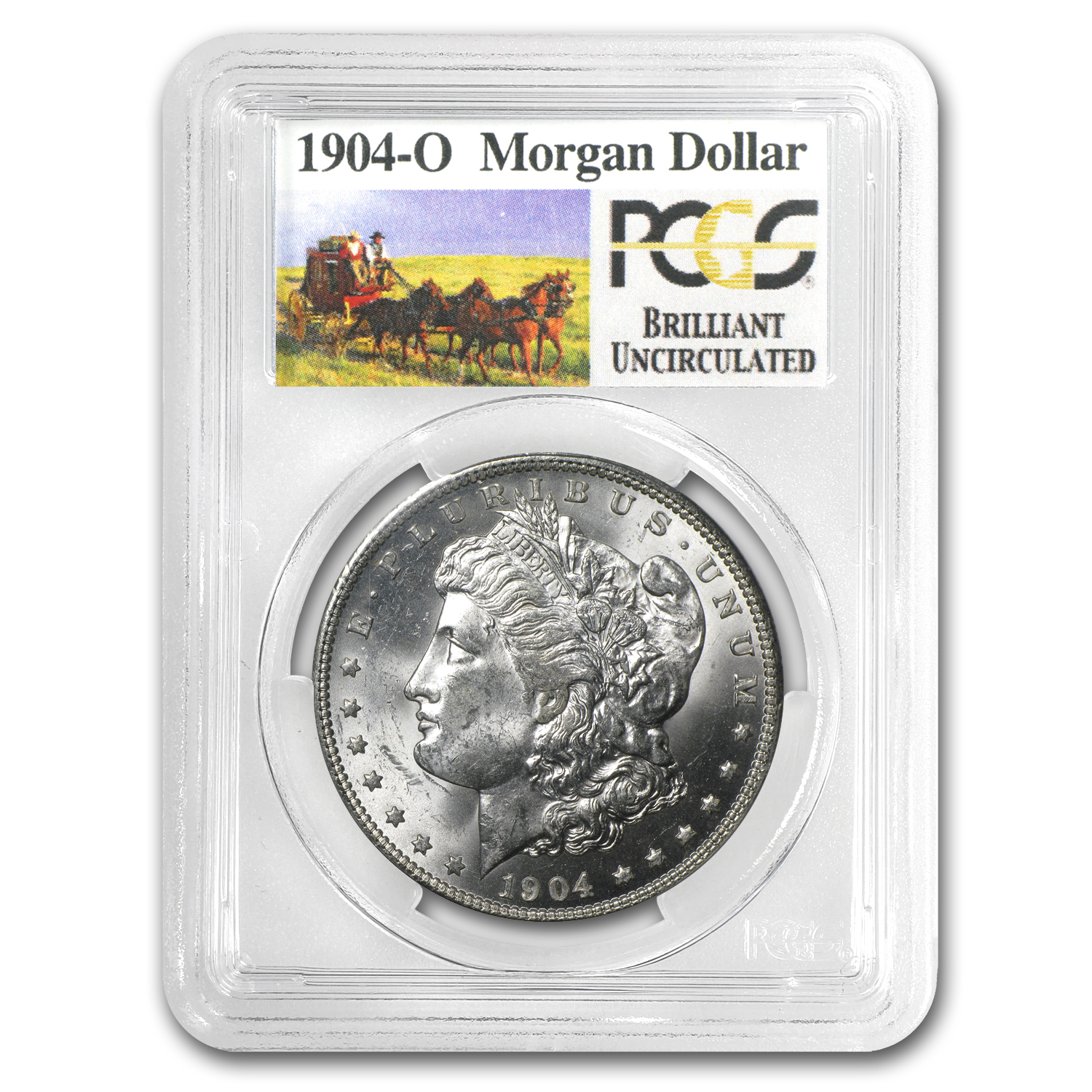 1904-O Brilliant Uncirculated PCGS Stage Coach Silver Dollars