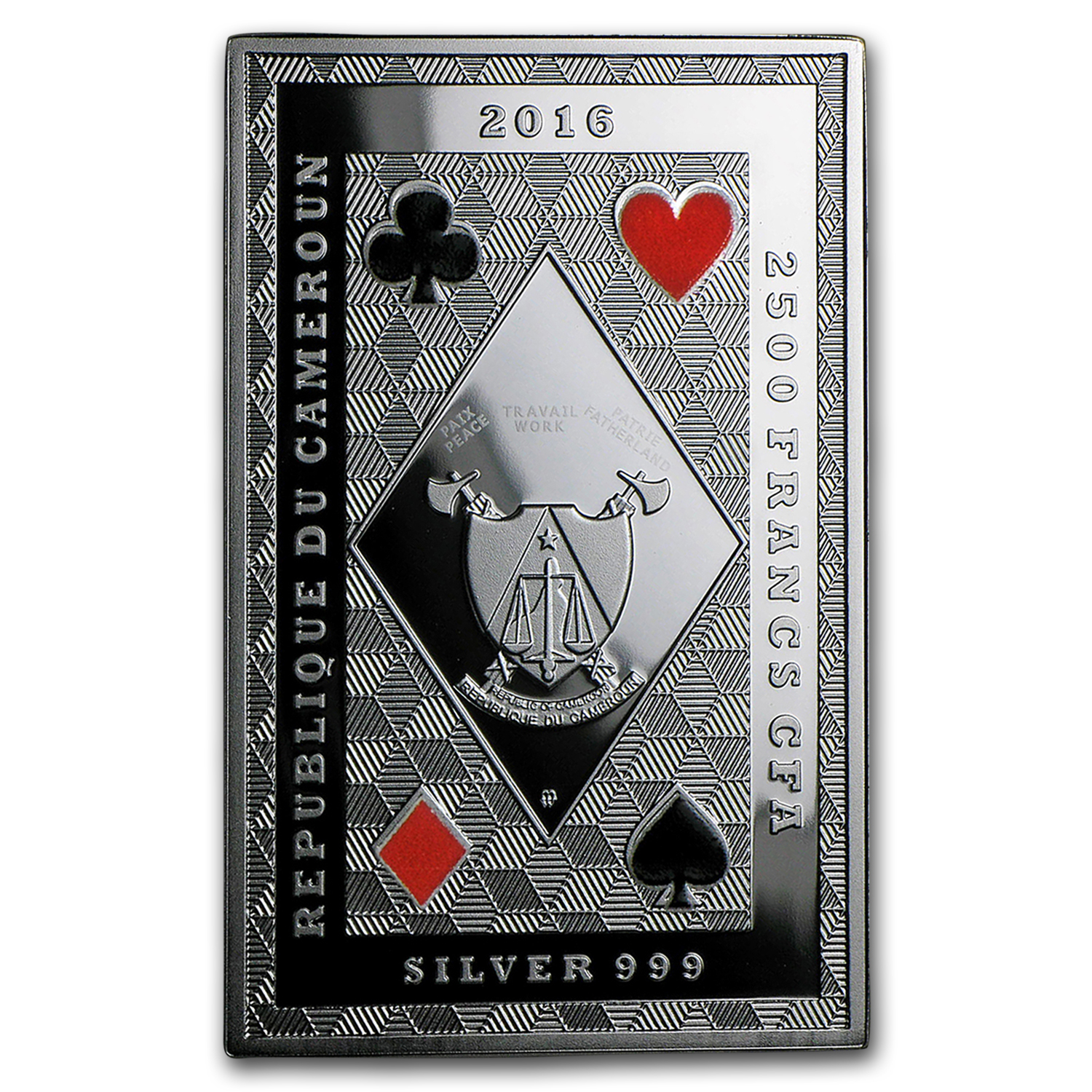 2016 Republic of Cameroon Royal Poker (Ace of Clubs)
