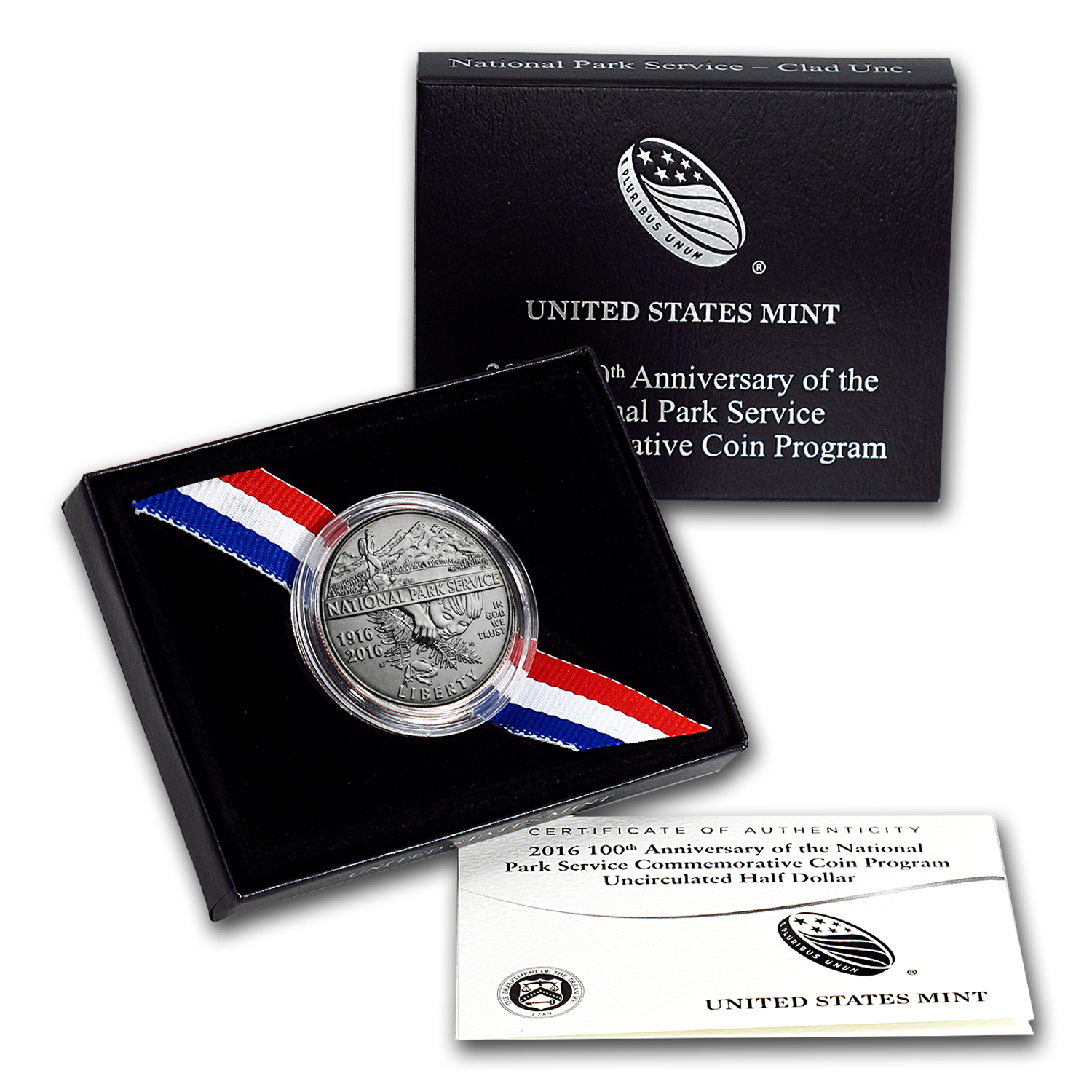 2016-D National Park Service Clad 1/2 Dollar BU (Box & COA)