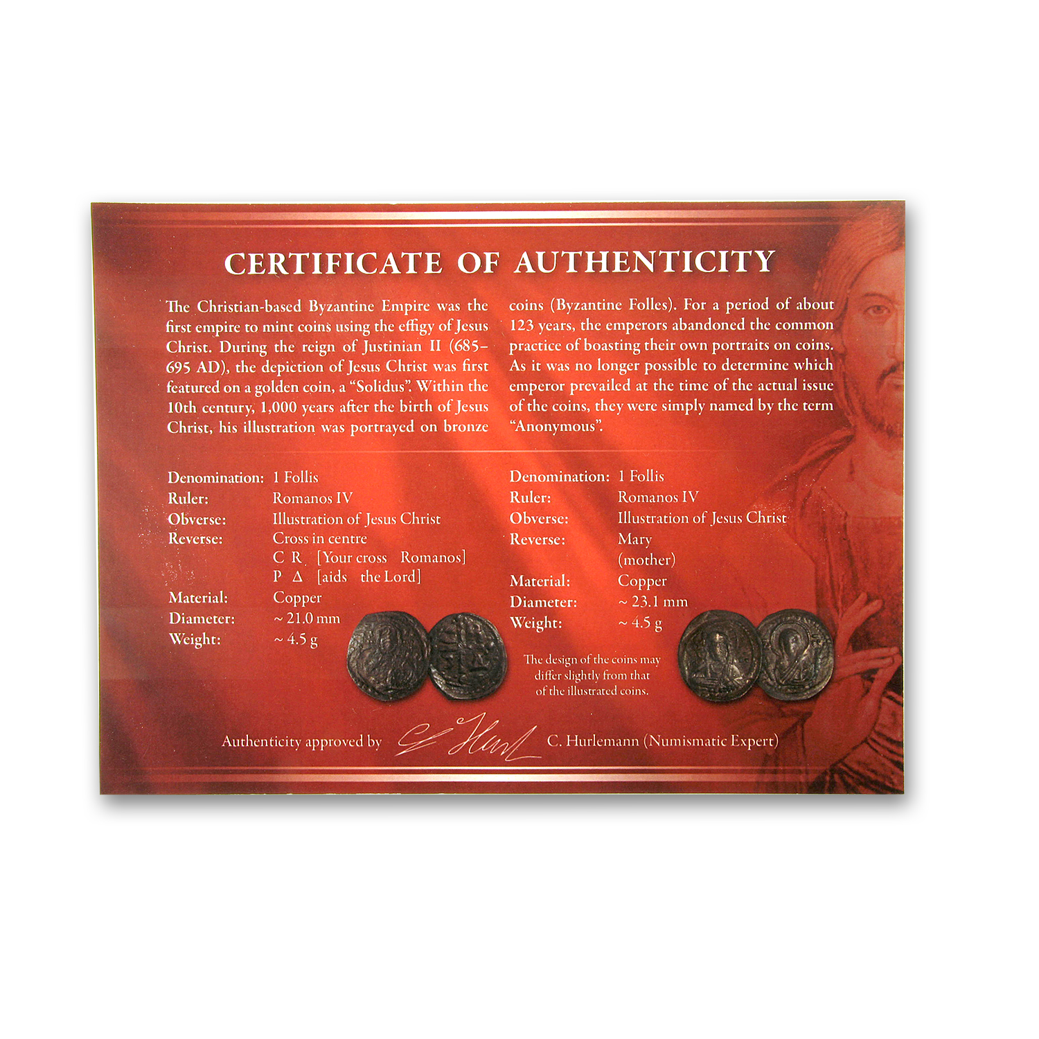 Byzantine Jesus Collection (2 coins)