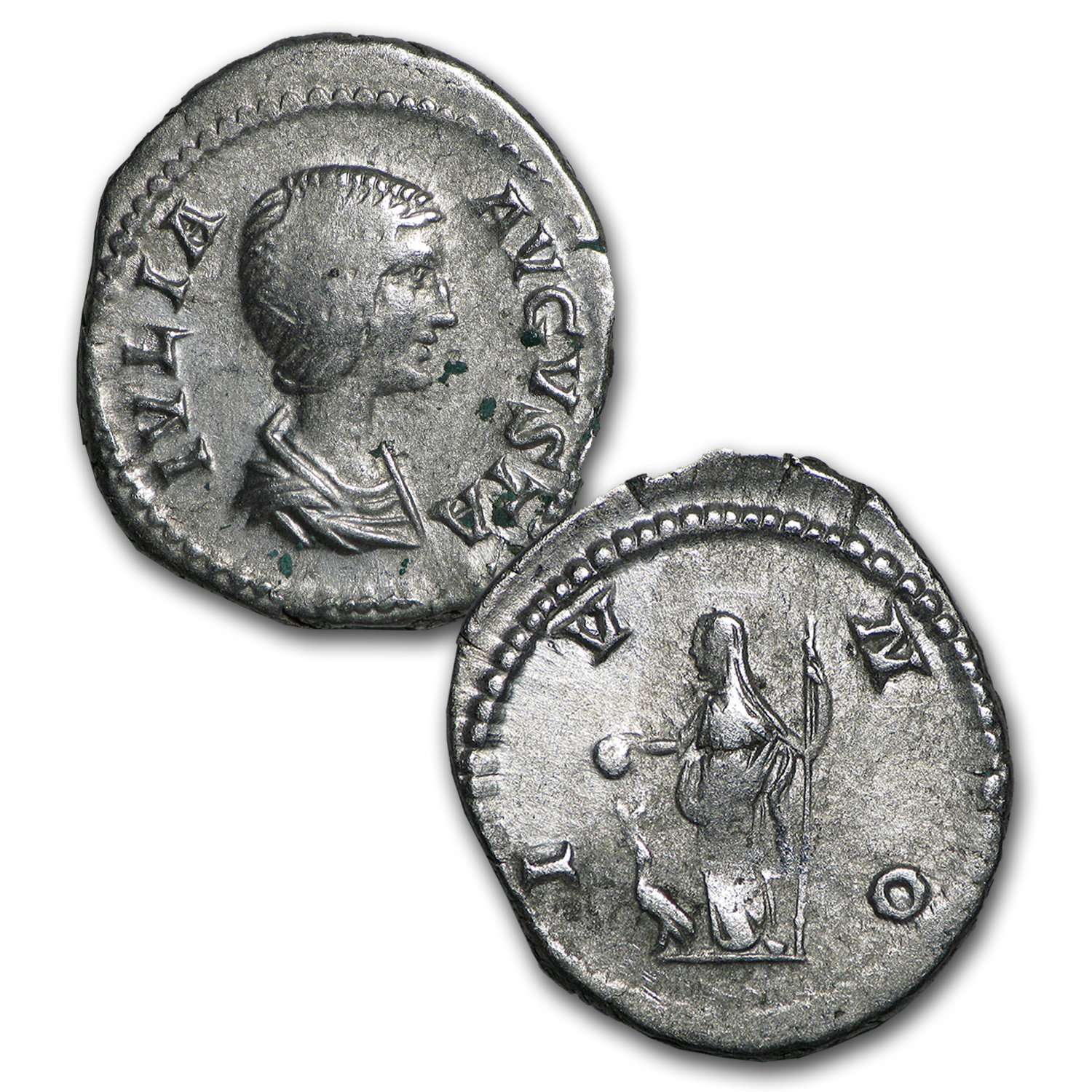 Roman Love 2-Coin Genuine Silver Septimius and Julia Domna Set