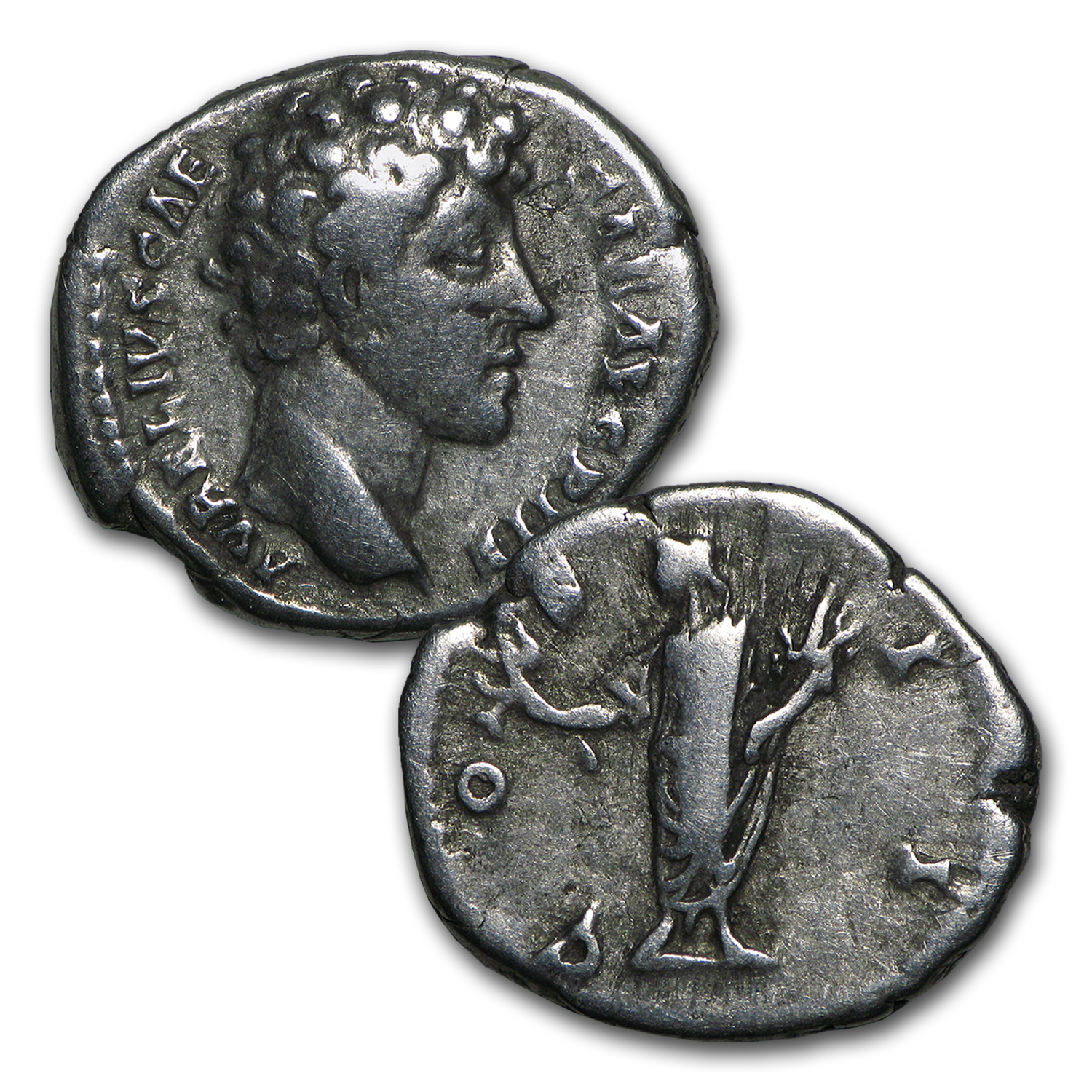 Roman Love 2-Coin Silver Marcus Aurelius and Faustina Minor Set