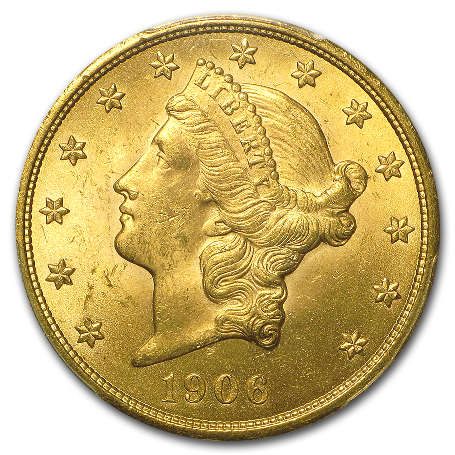 1906-D $20 Liberty Gold Double Eagle MS-63 PCGS
