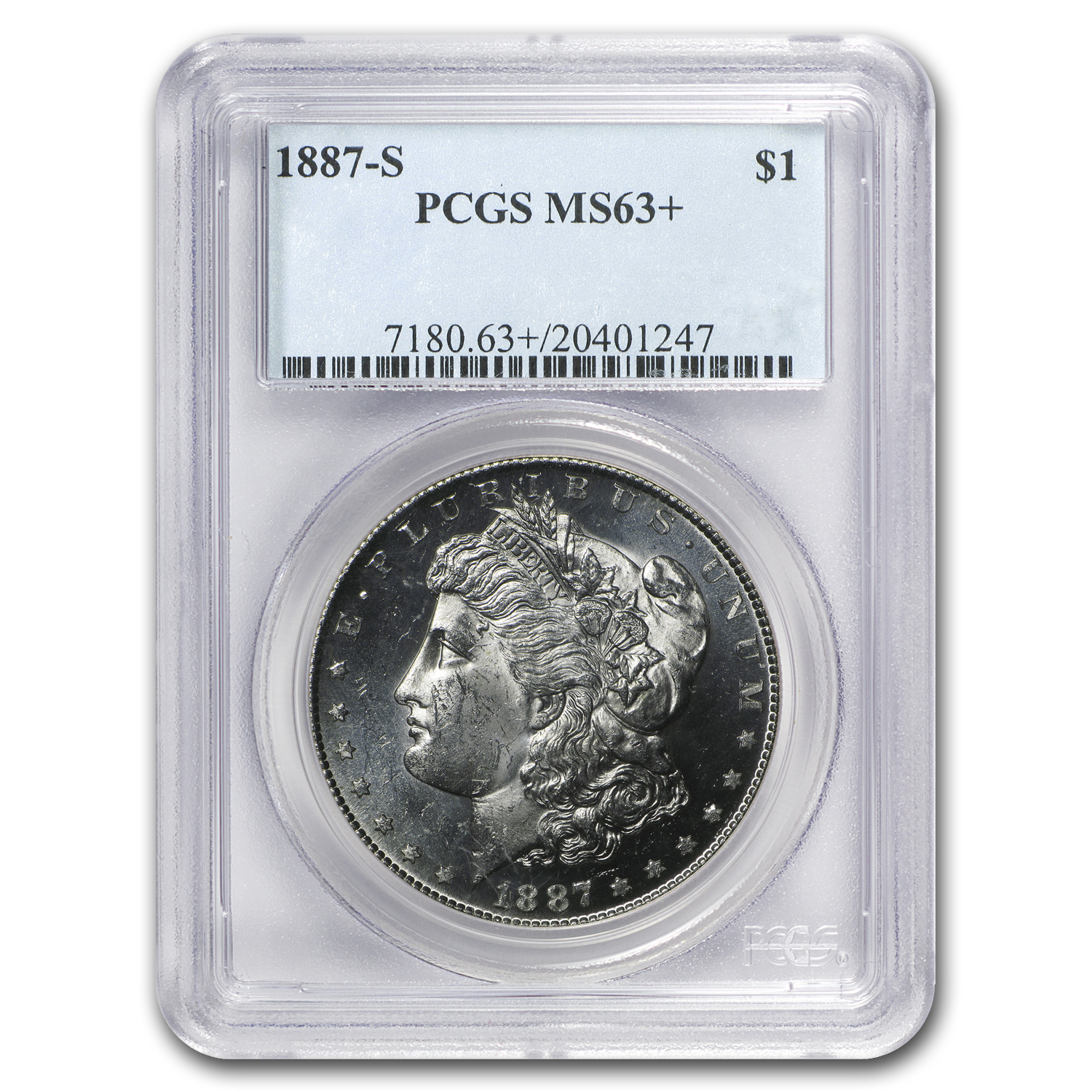 1887-S Morgan Dollar MS-63+ Plus PCGS