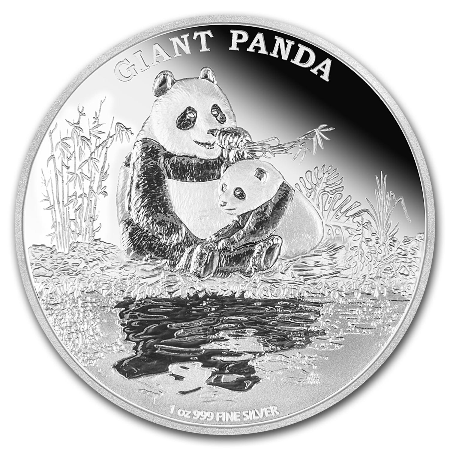 2016 Niue 1 oz Silver Endangered Species Giant Panda