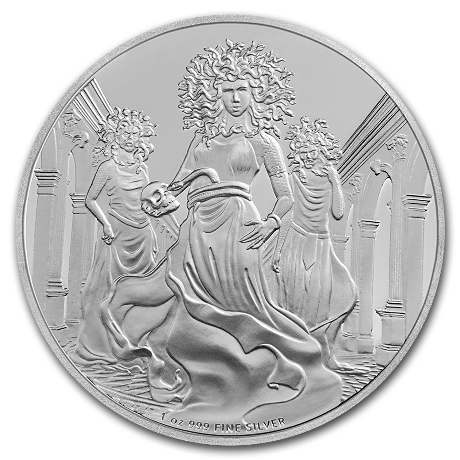 2016 Niue 1 oz Silver $2 Creatures of Greek Mythology Gorgon