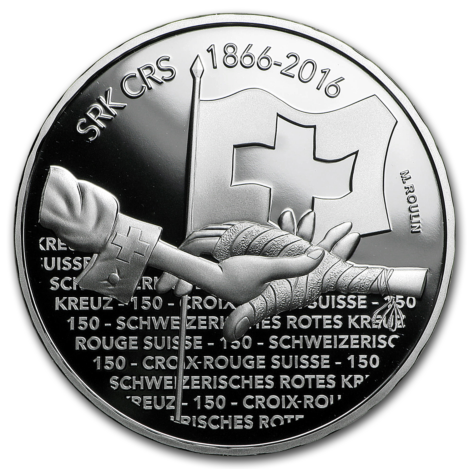2016 Switzerland Proof Silver 20 CHF 150 Years of Swiss Red Cross
