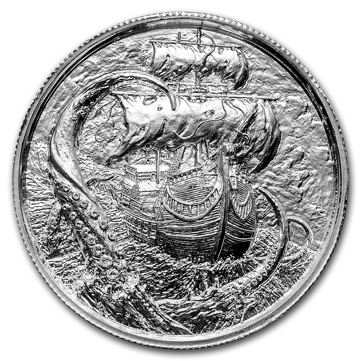 2 oz Silver Round - The Kraken (Ultra High Relief)